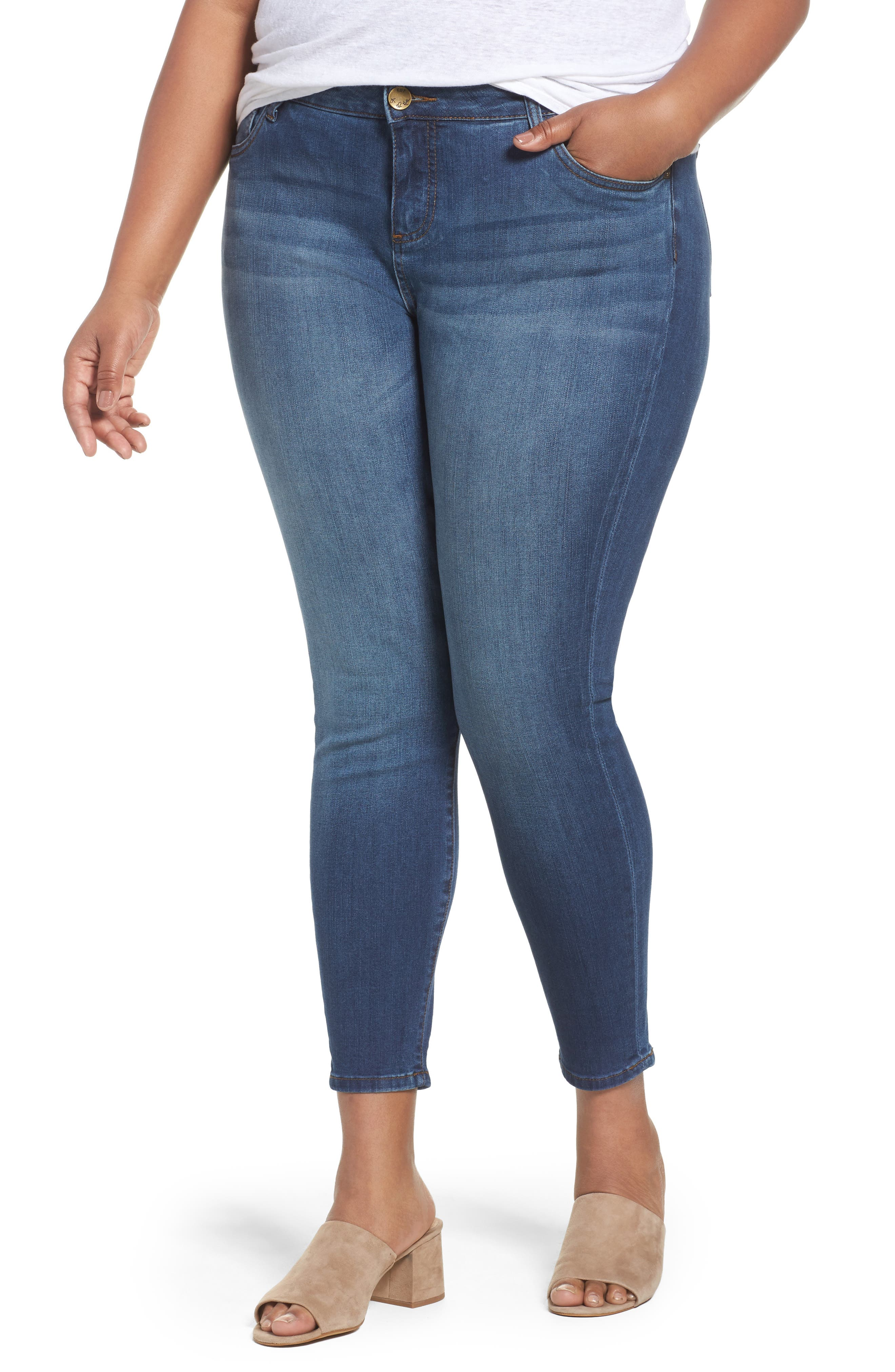 KUT from the Kloth Connie Skinny Ankle Jeans (Lift)