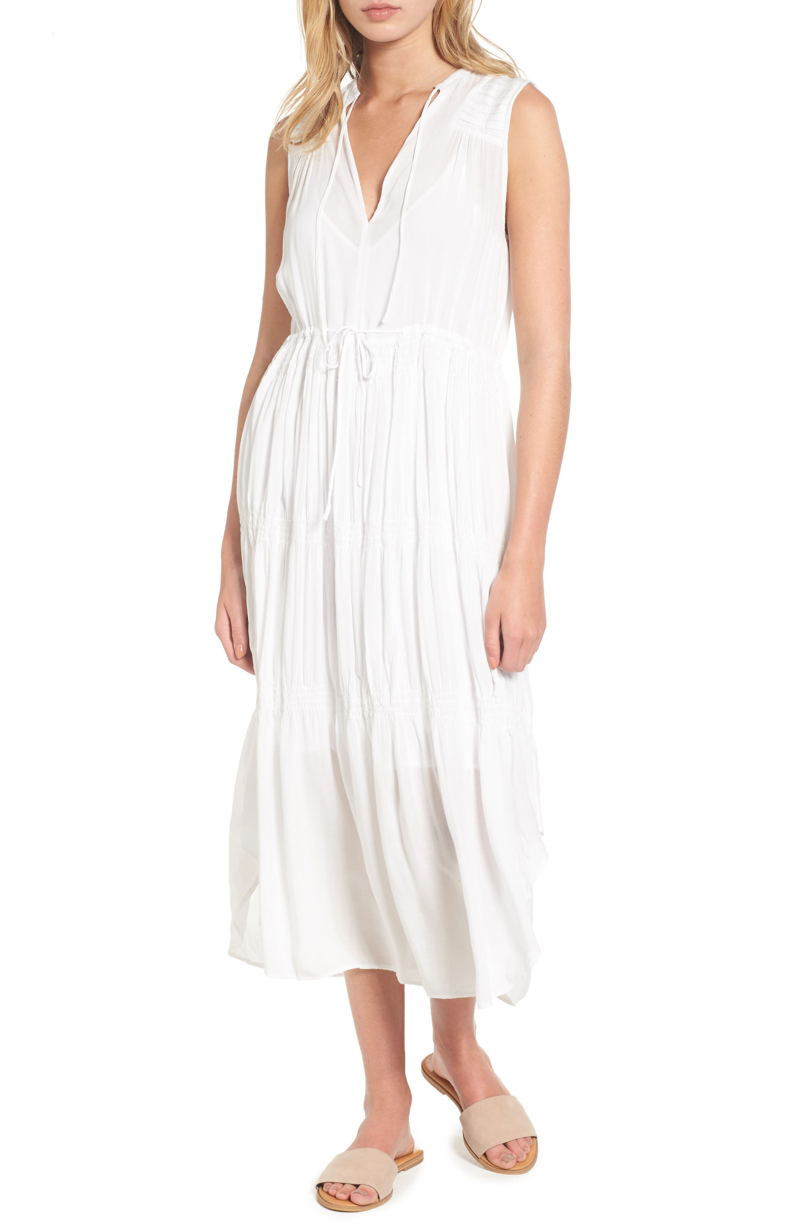 James Perse Pleated A-Line Dress
