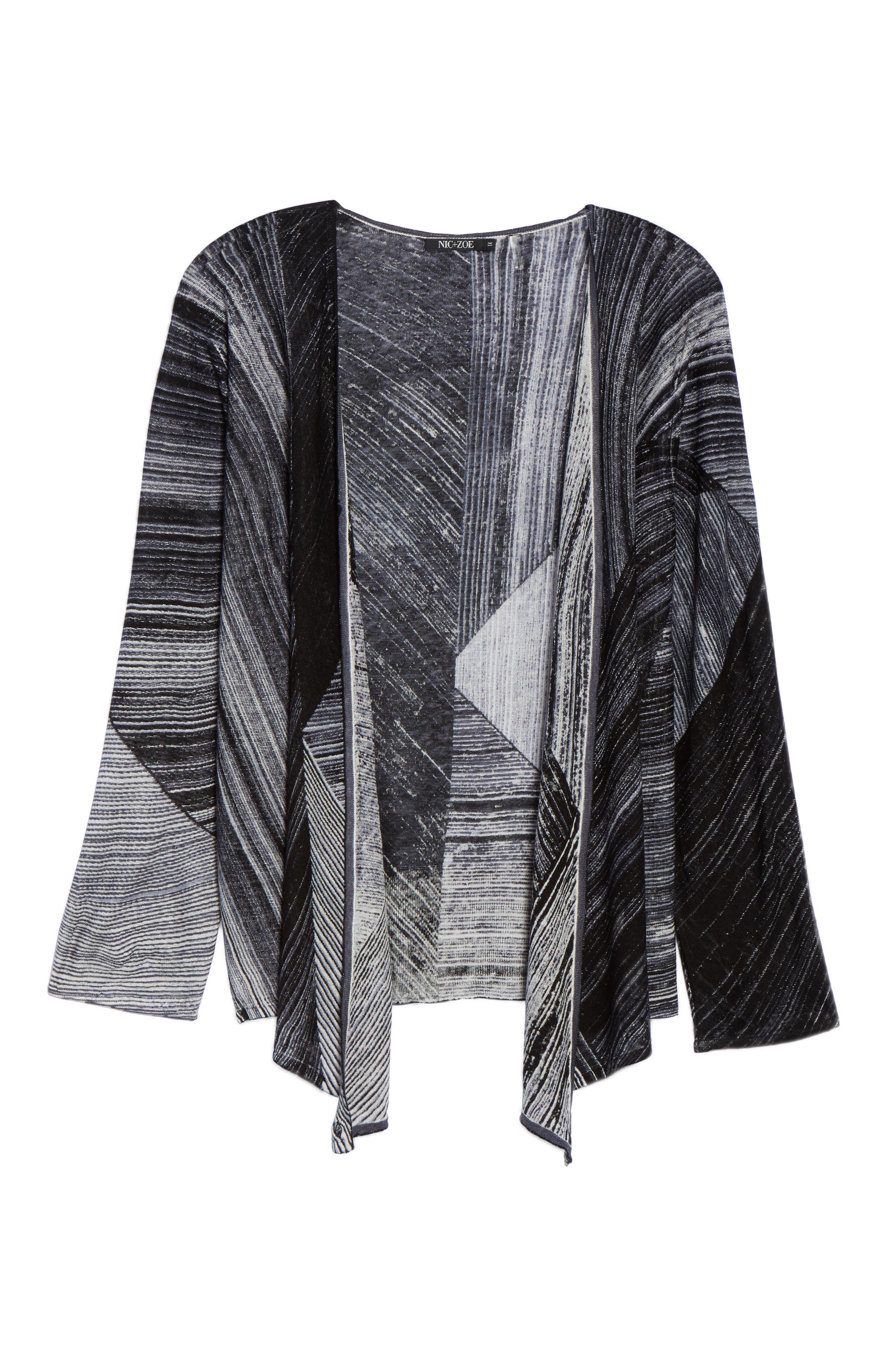 Alternate Image 6  - NIC+ZOE Waterfall 4-Way Convertible Cardigan (Plus Size)