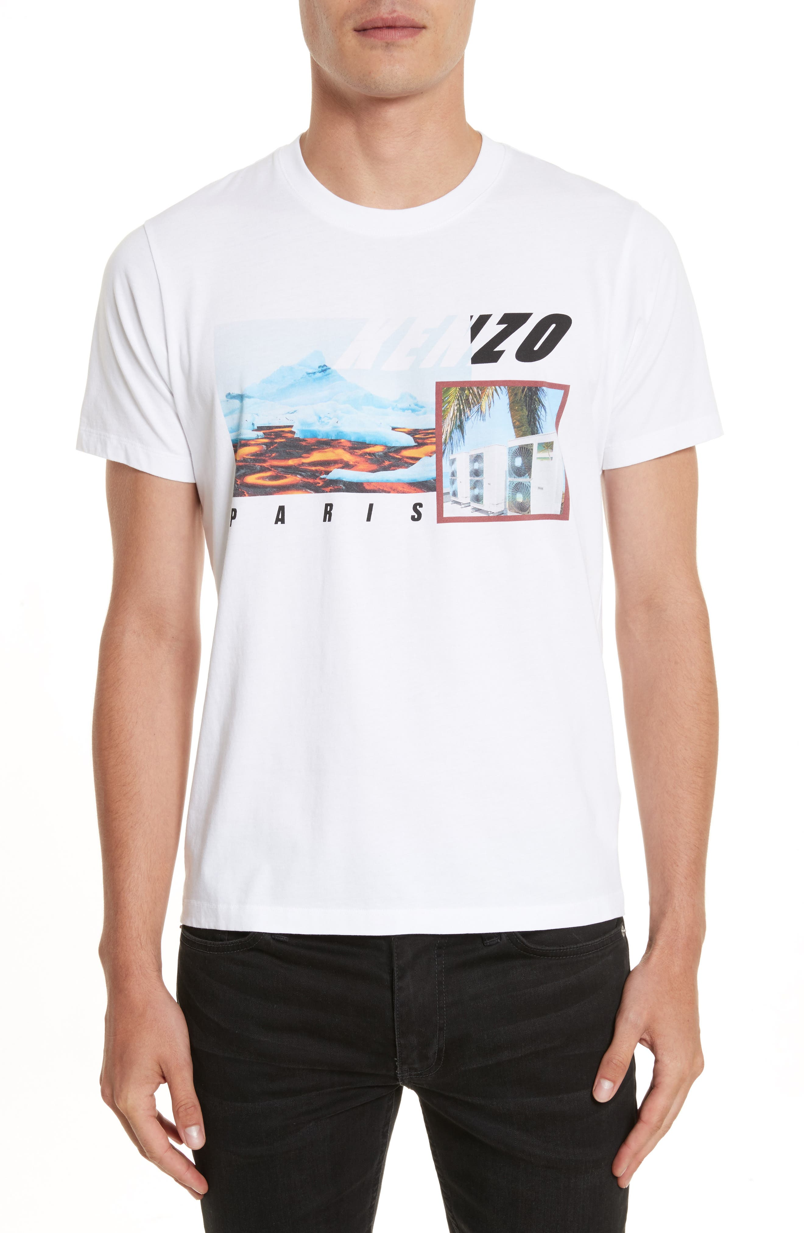 Graphic T-Shirt,                         Main,                         color, White