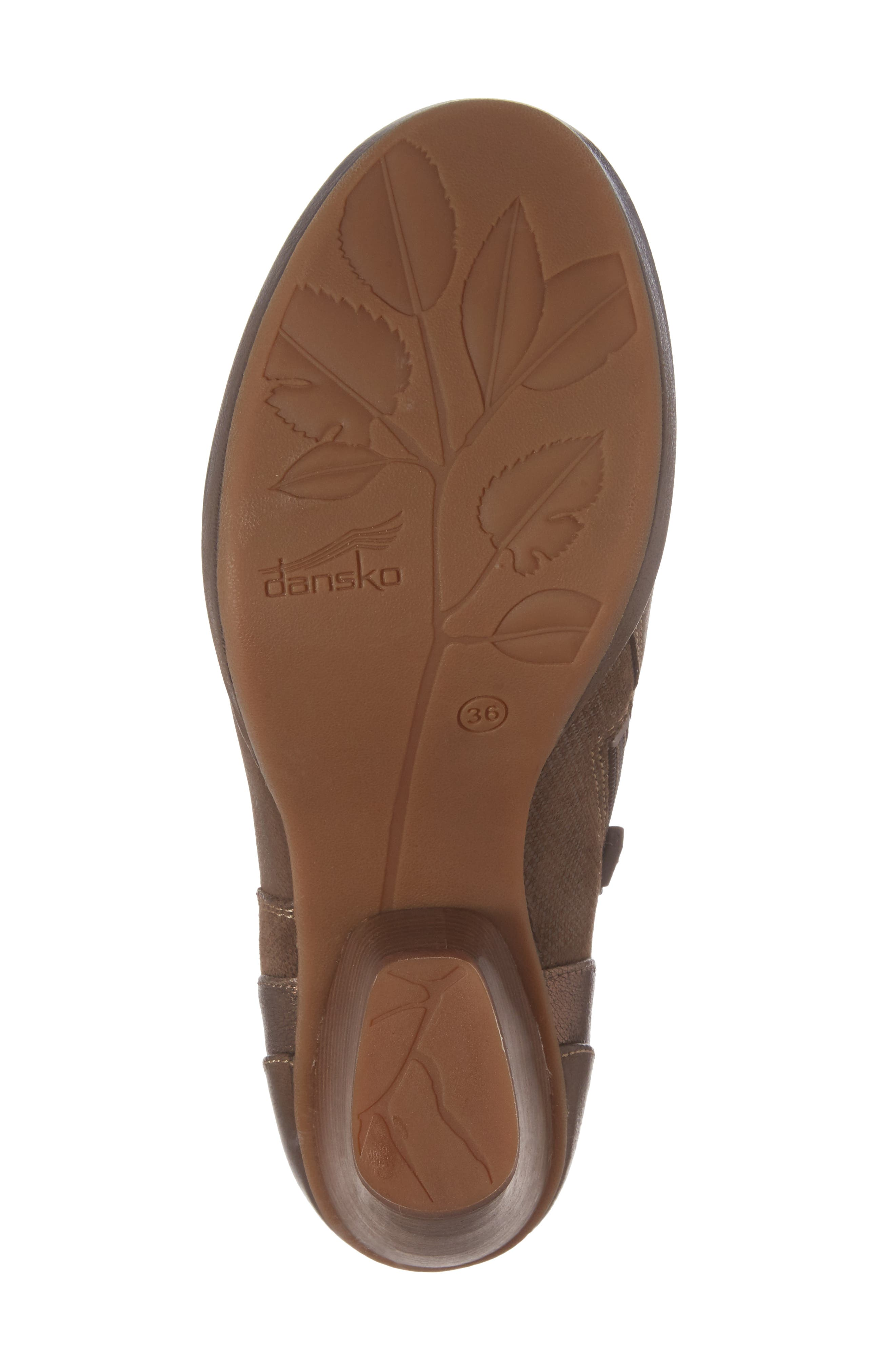 Marcia Bootie,                             Alternate thumbnail 6, color,                             Teak Burinished Leather