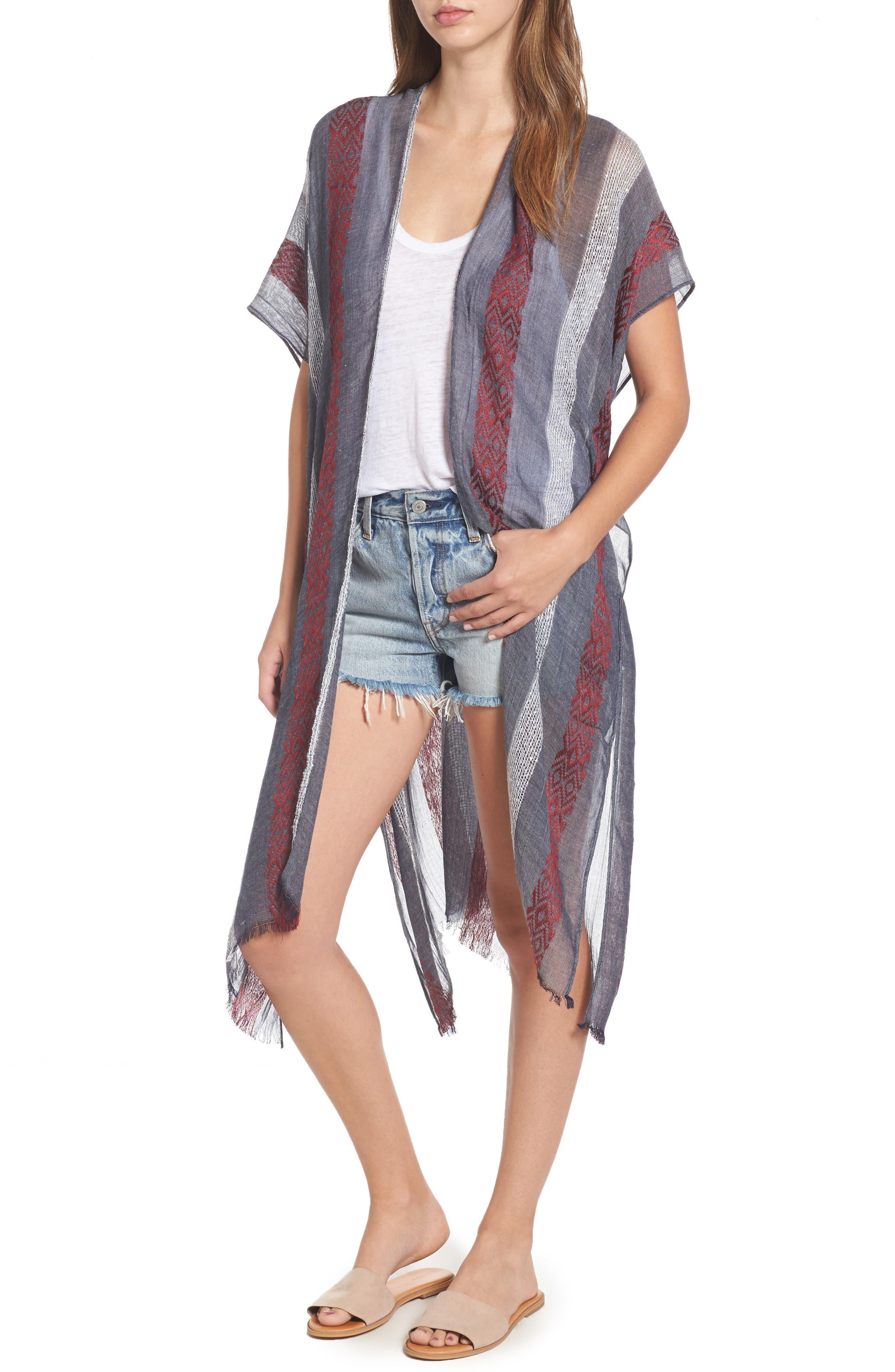 Main Image - Sole Society Knit Duster Kimono