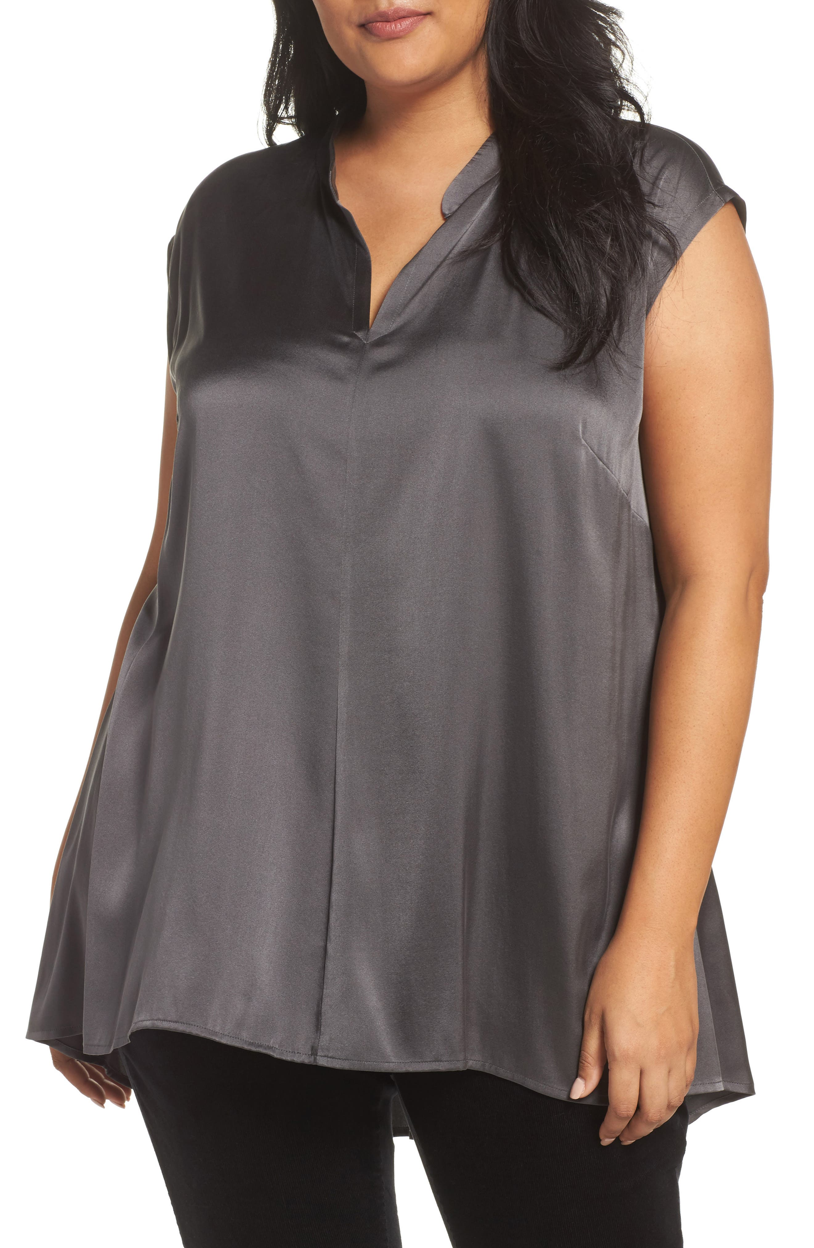 Eileen Fisher Stretch Silk Top (Plus Size)