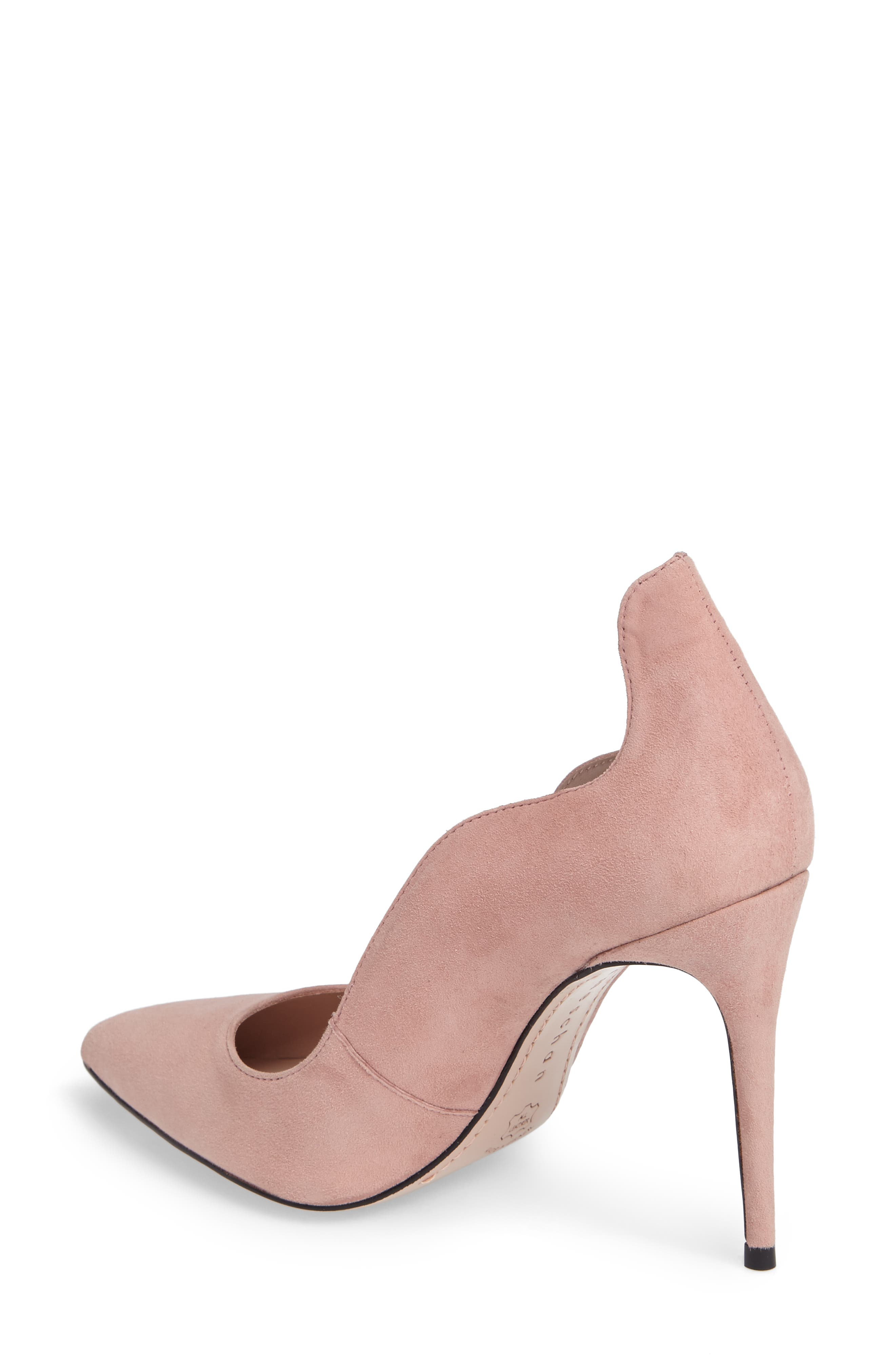 Anika Curvy Pump,                             Alternate thumbnail 2, color,                             Blush Suede