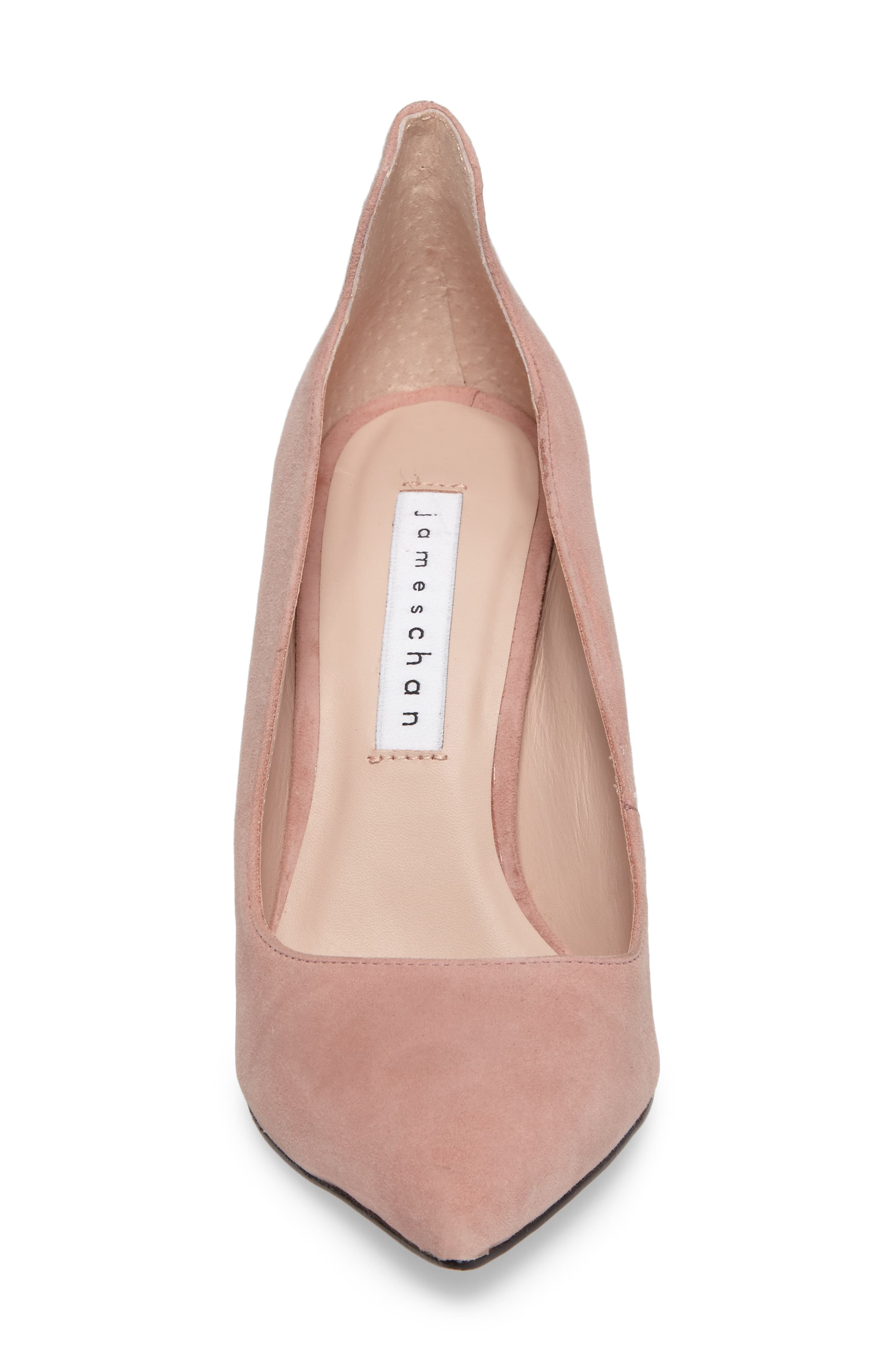 Anika Curvy Pump,                             Alternate thumbnail 4, color,                             Blush Suede