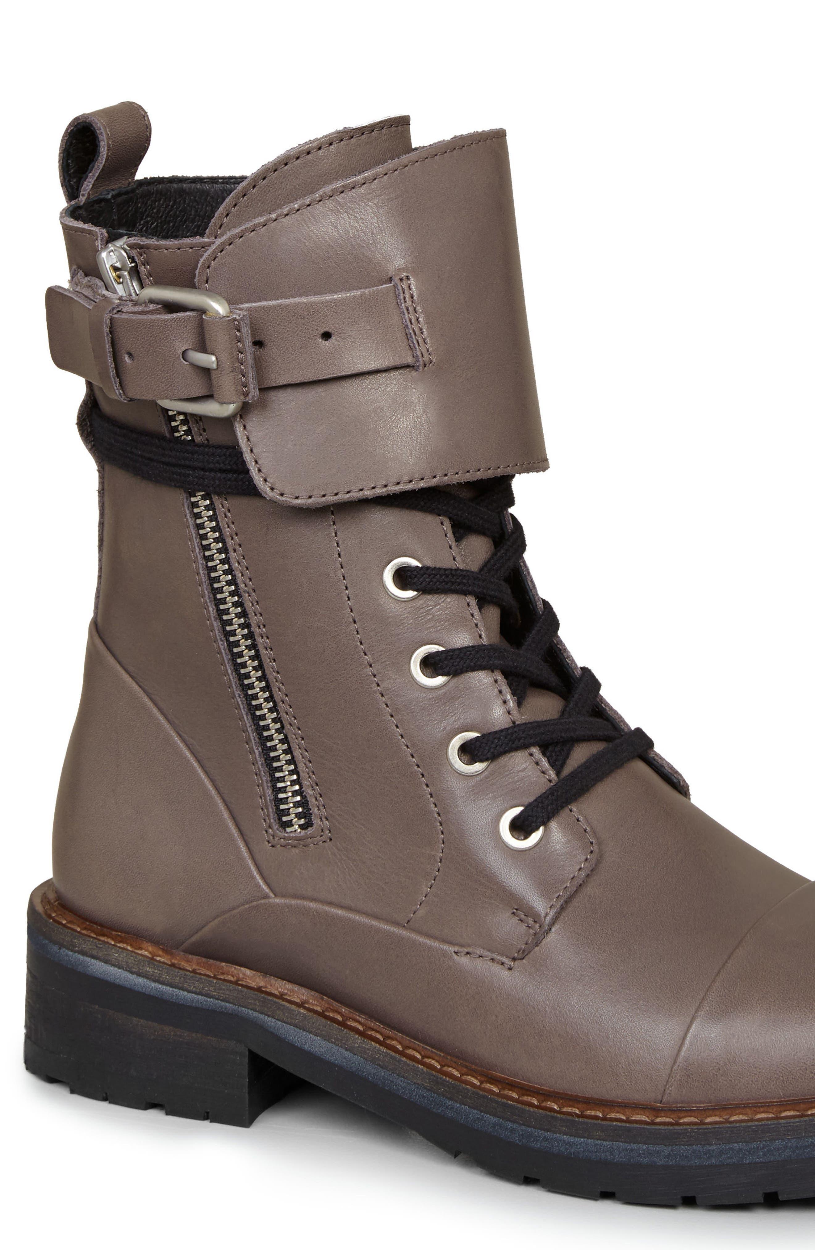 Alternate Image 5  - ALLSAINTS Daria Cuffed Combat Boot (Women)