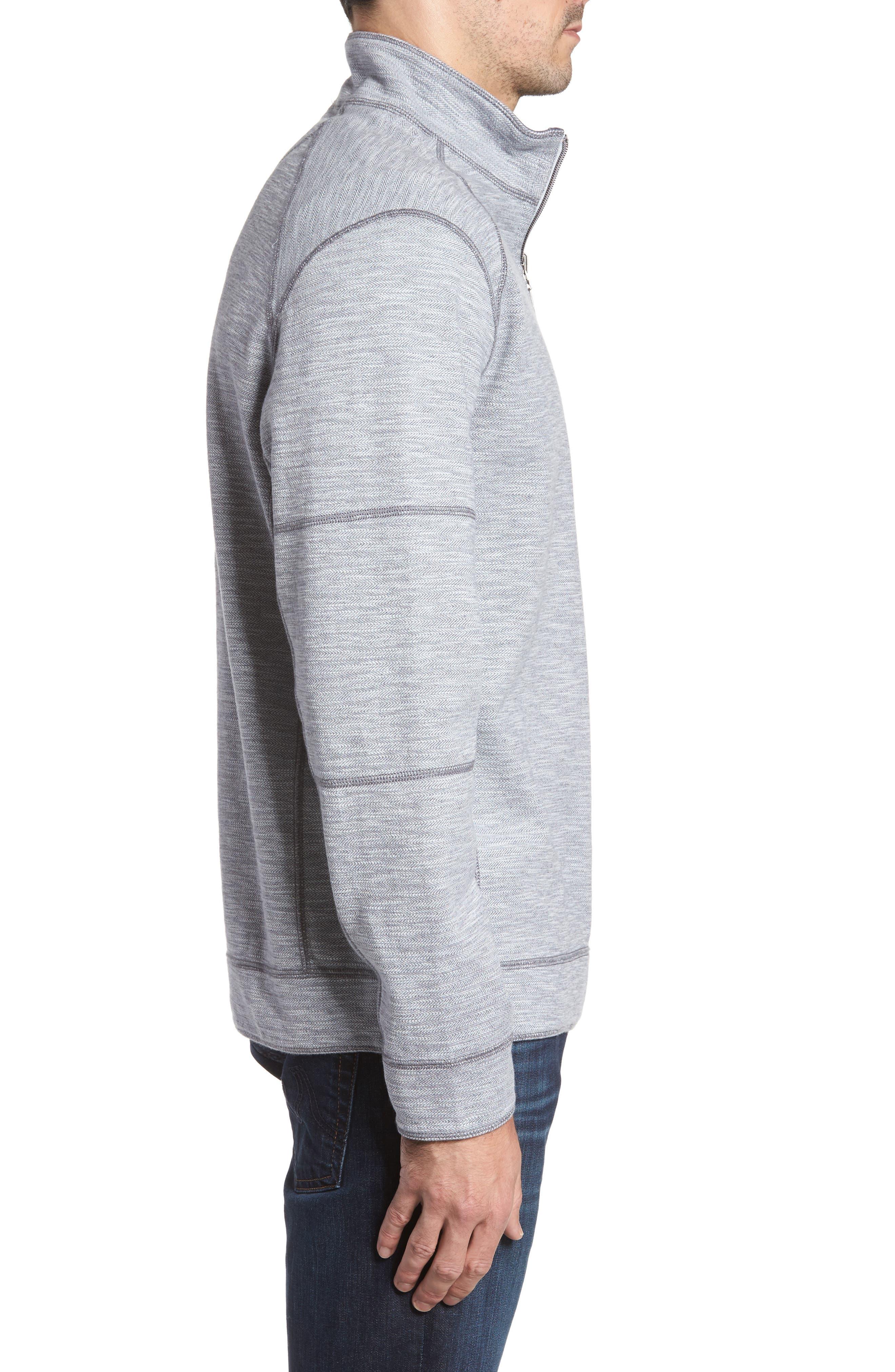 Alternate Image 4  - Tommy Bahama Sandbar Slub Reversible Quarter Zip Pullover