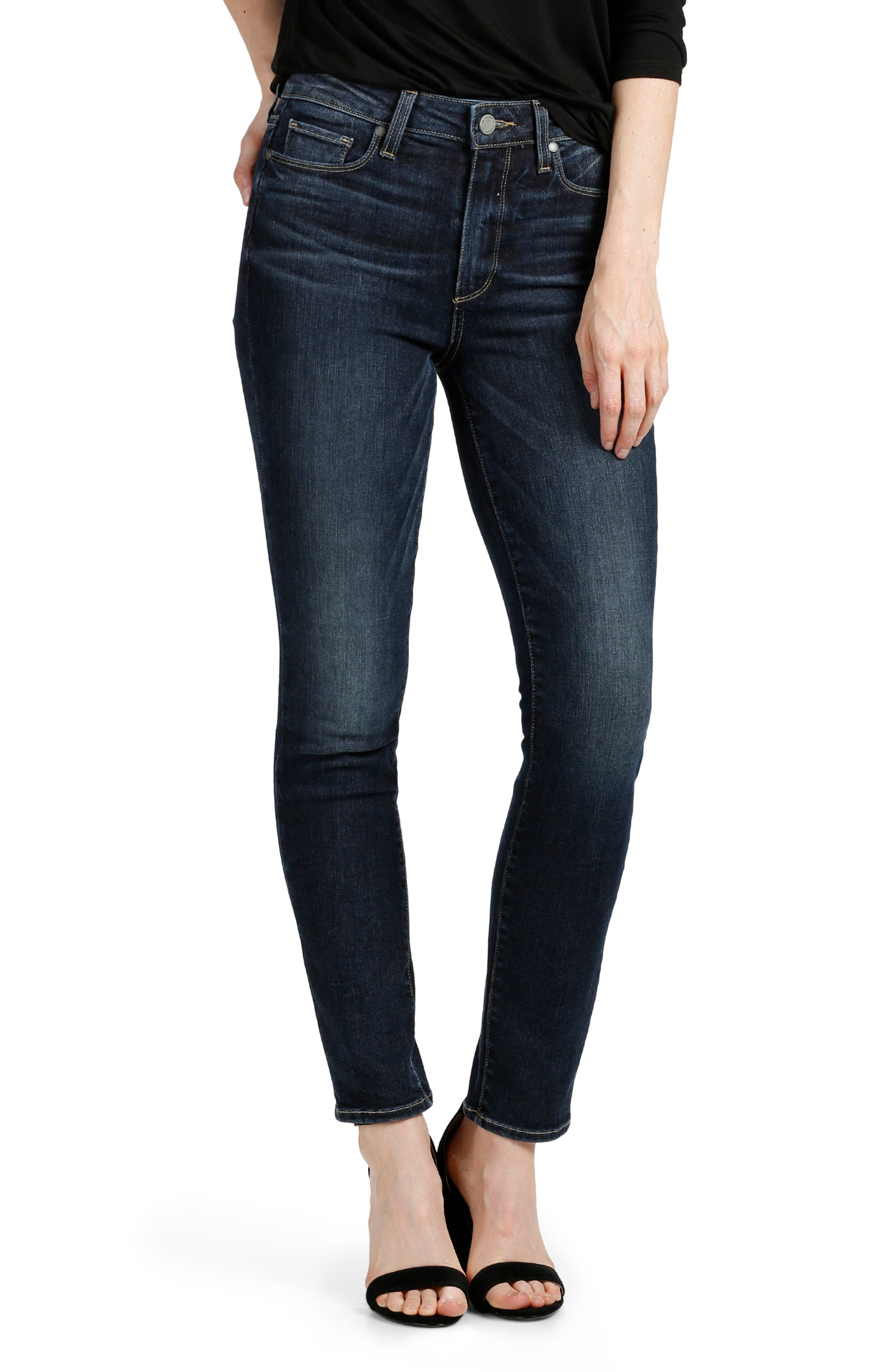 Transcend Vintage - Hoxton Ankle Peg Skinny Jeans,                             Alternate thumbnail 3, color,                             Jerry Girl