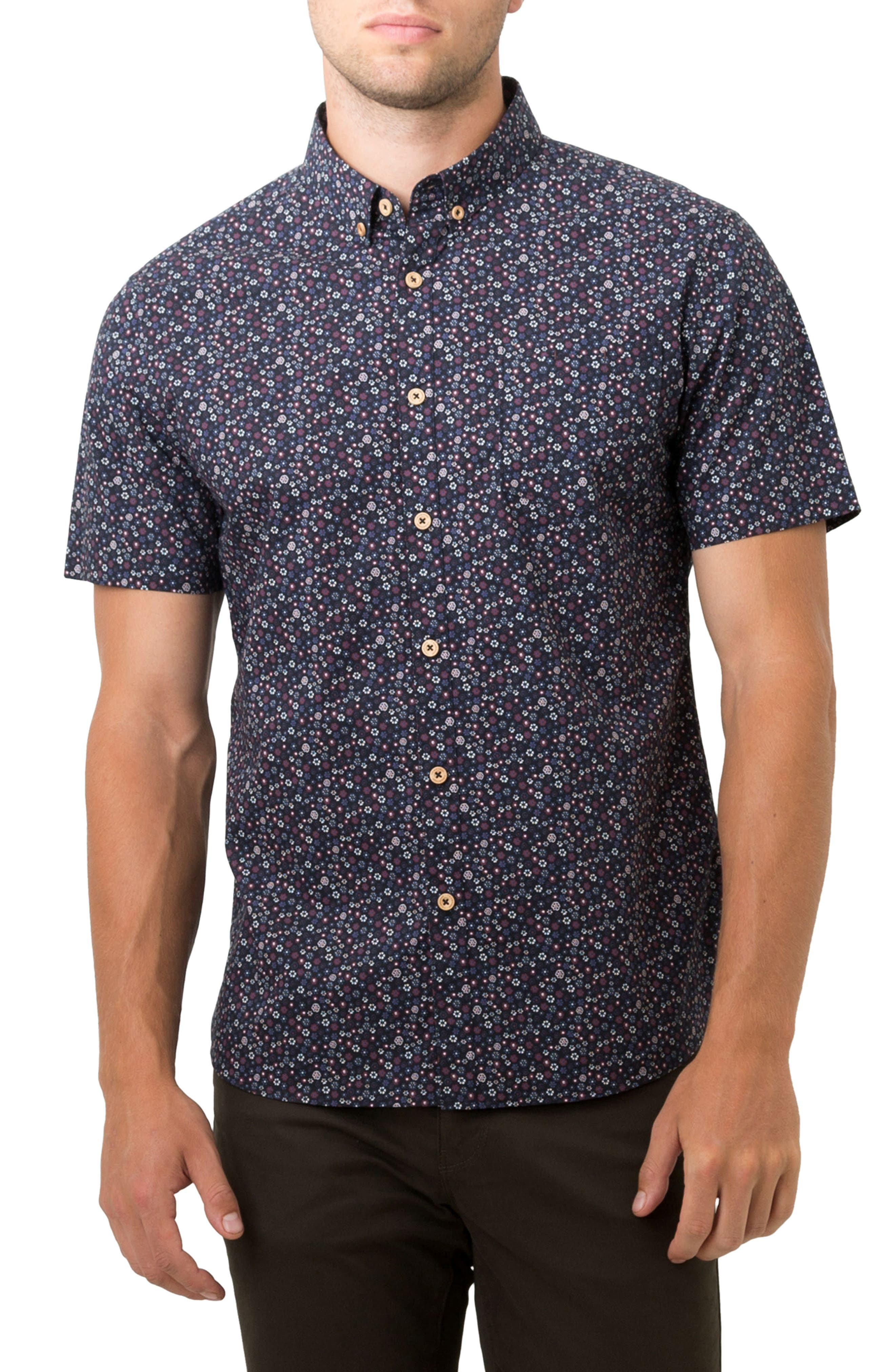 Pure Luck Woven Shirt,                         Main,                         color, Navy