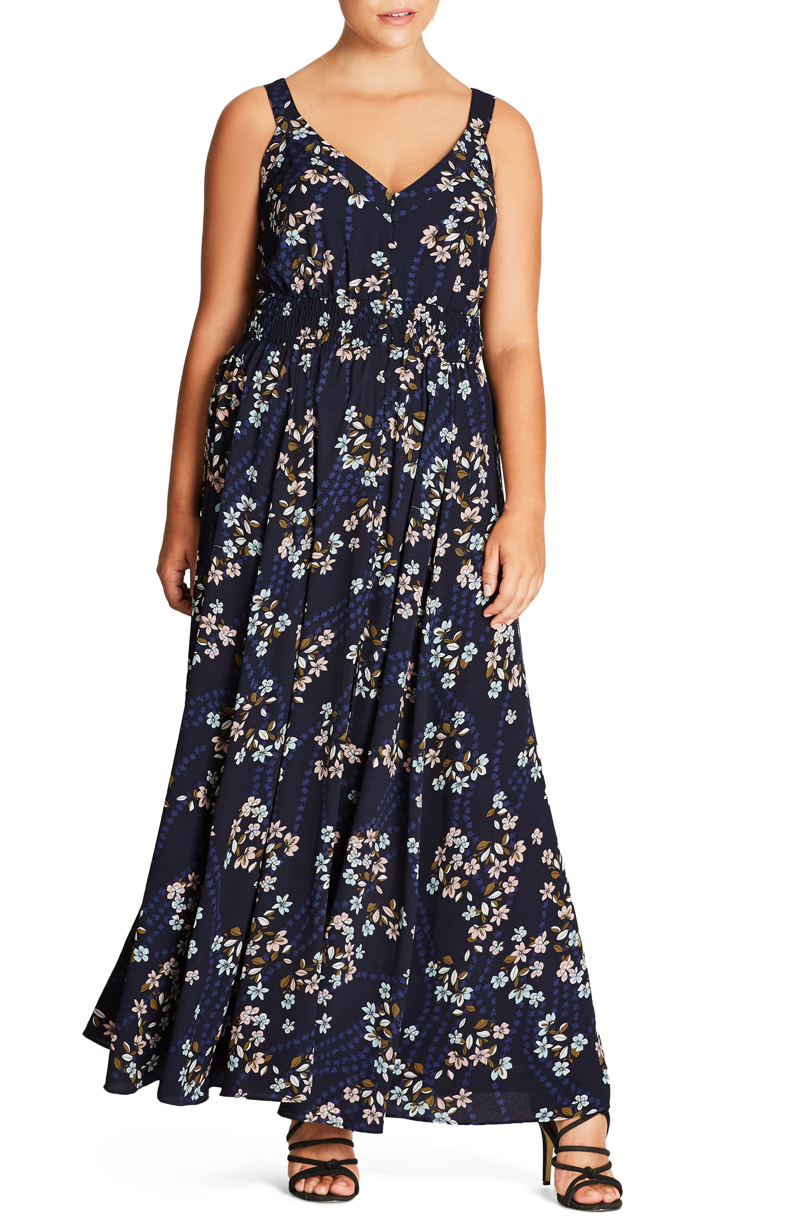 City Chic I Found You Floral Maxi Dress (Plus Size)