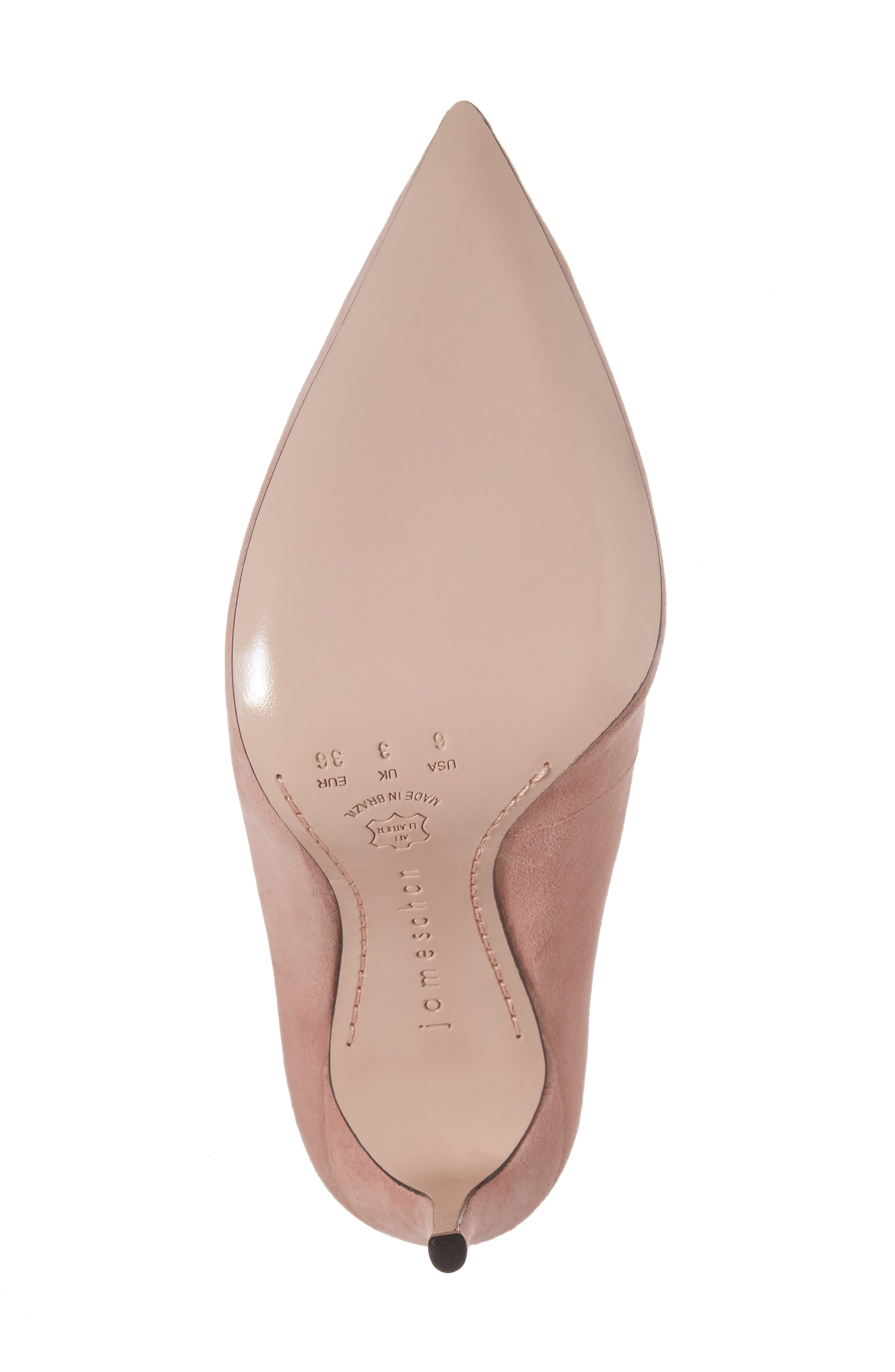 Anika Curvy Pump,                             Alternate thumbnail 6, color,                             Blush Suede