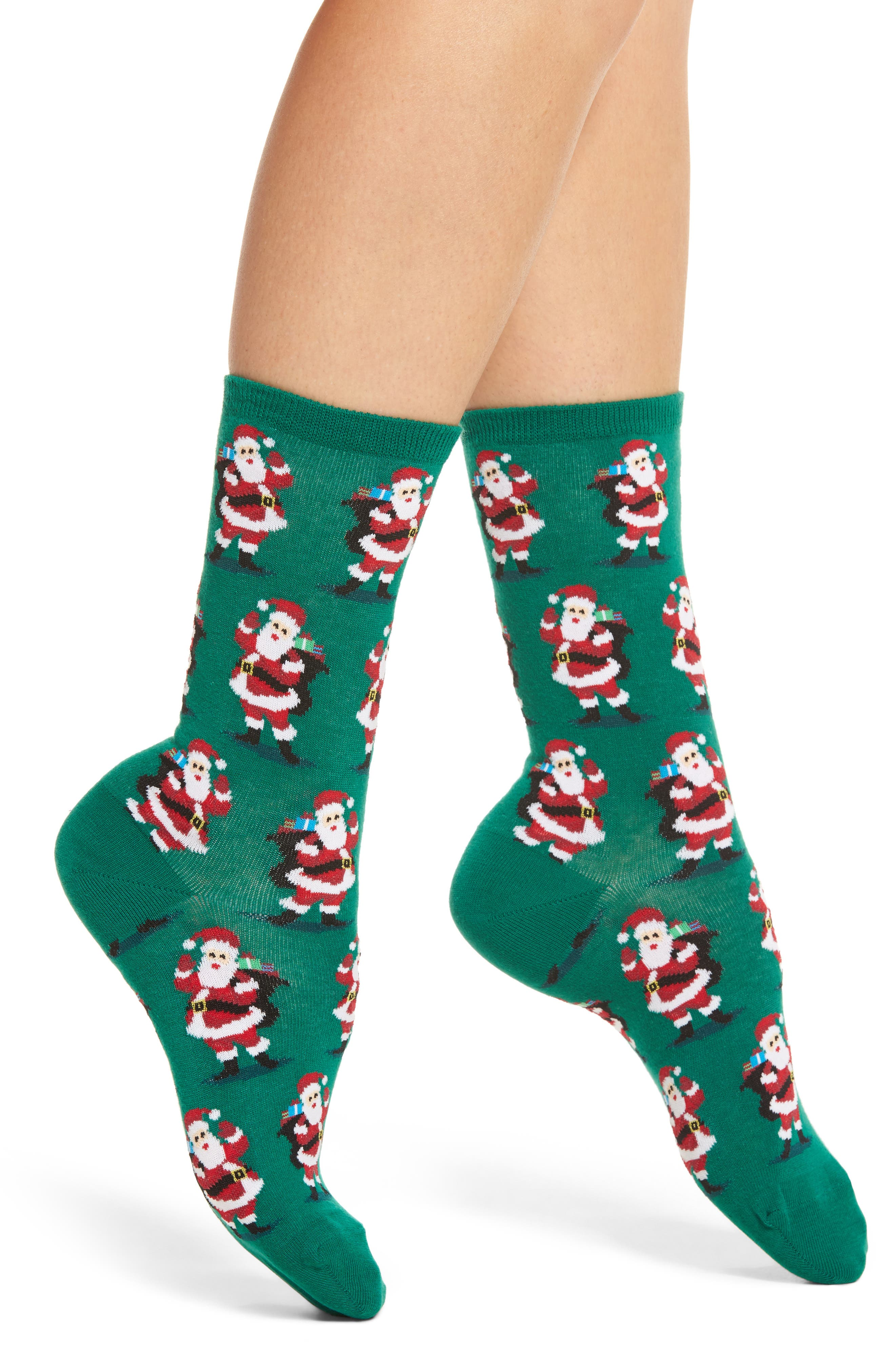Hot Sox Santa with Presents Crew Socks (3 for $15)