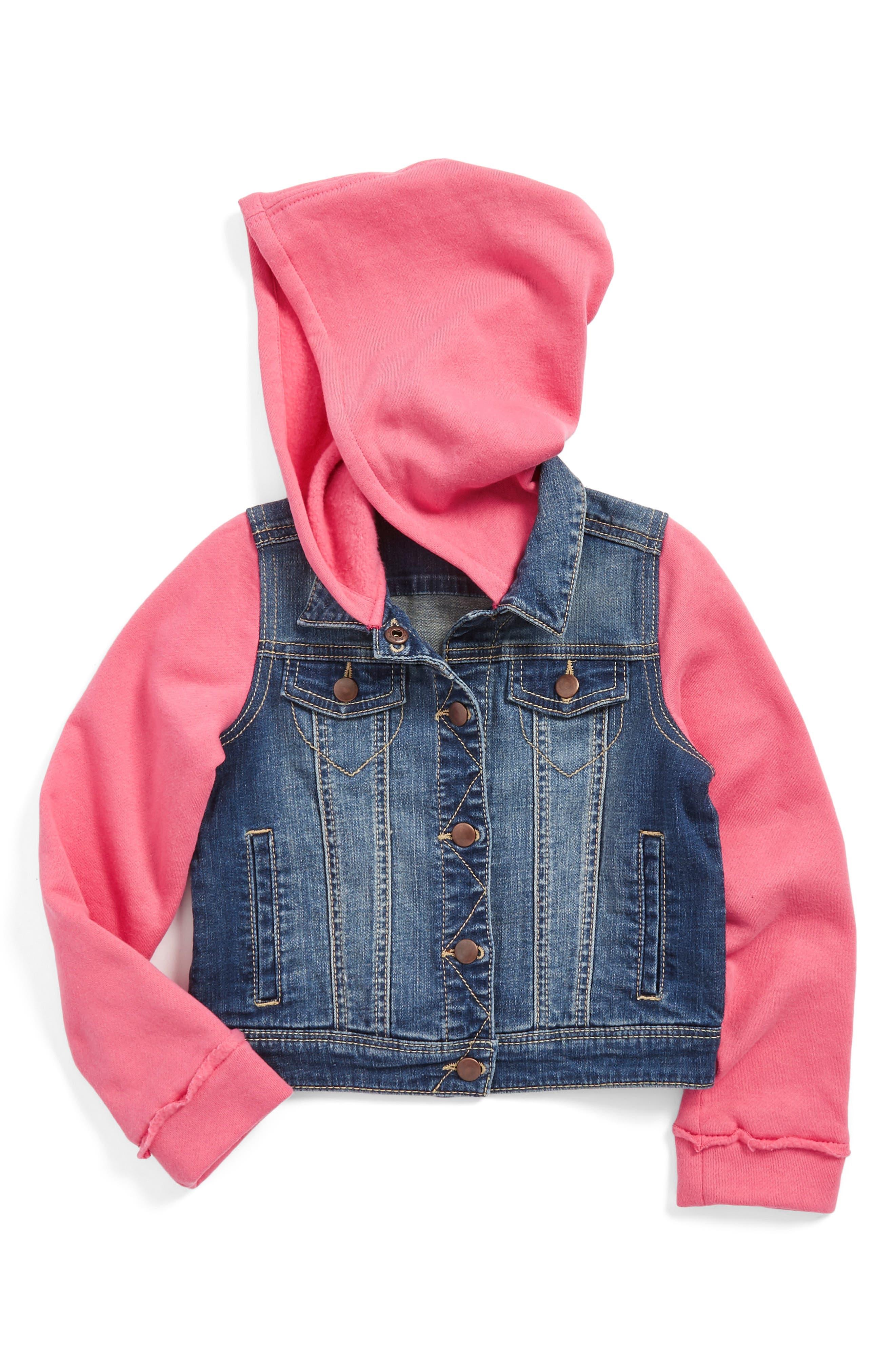 Tucker + Tate Hooded Denim Jacket (Toddler Girls, Little Girls & Big Girls)