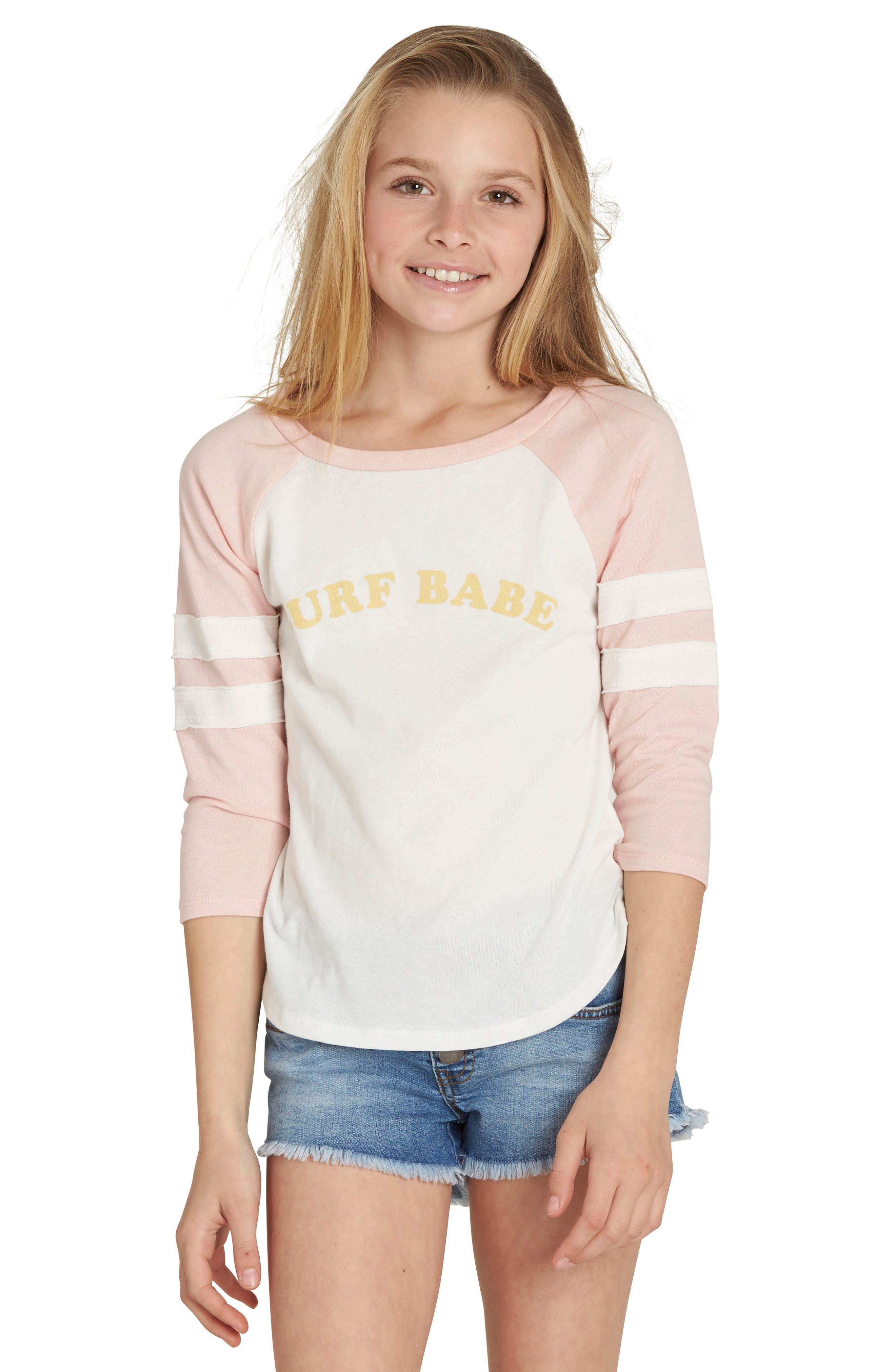 Surf Babe Graphic Tee,                             Main thumbnail 1, color,                             Pink Mist