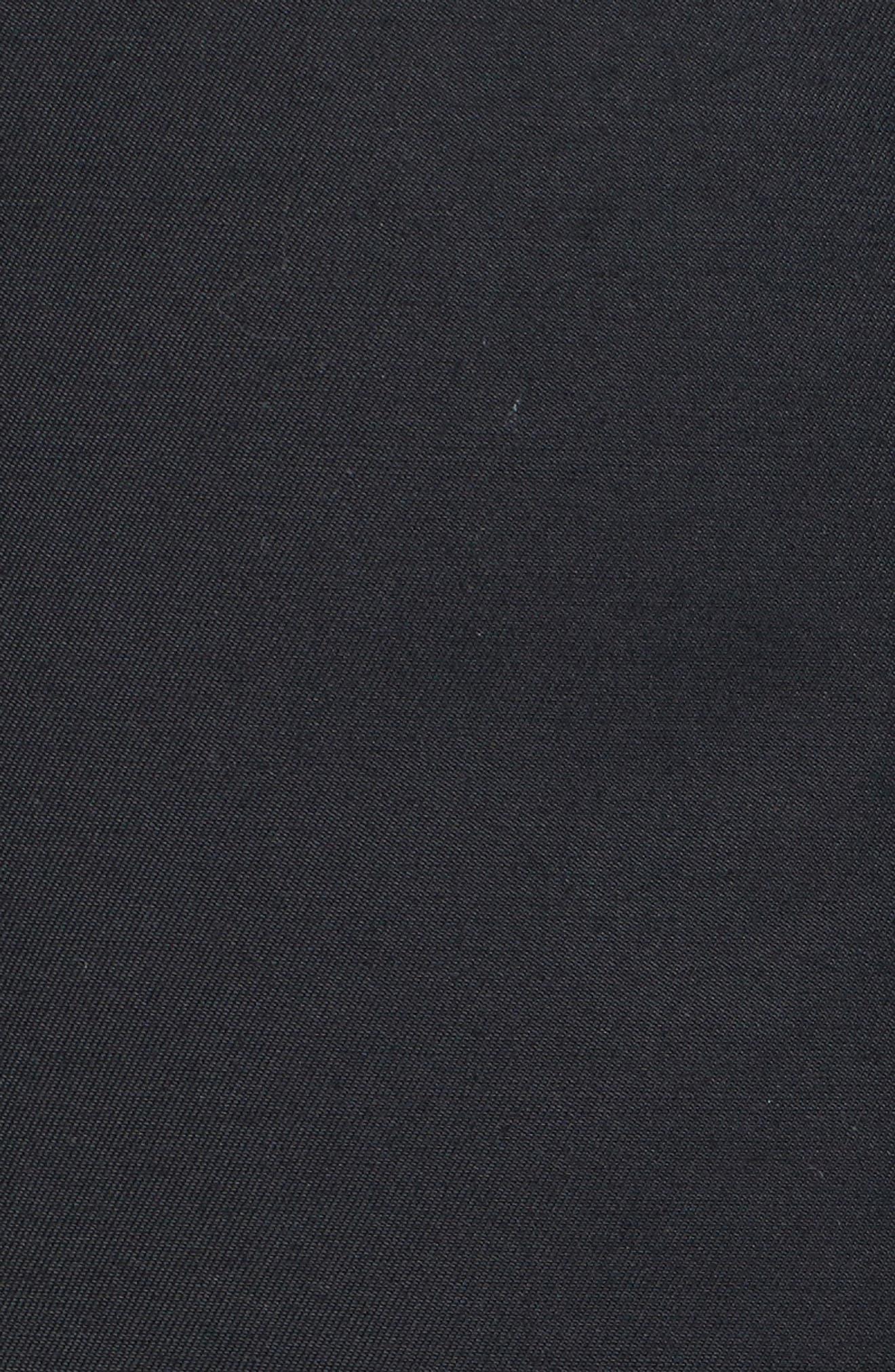 Down Hooded Anorak with Genuine Fox & Rabbit Fur Trim,                             Alternate thumbnail 6, color,                             Black