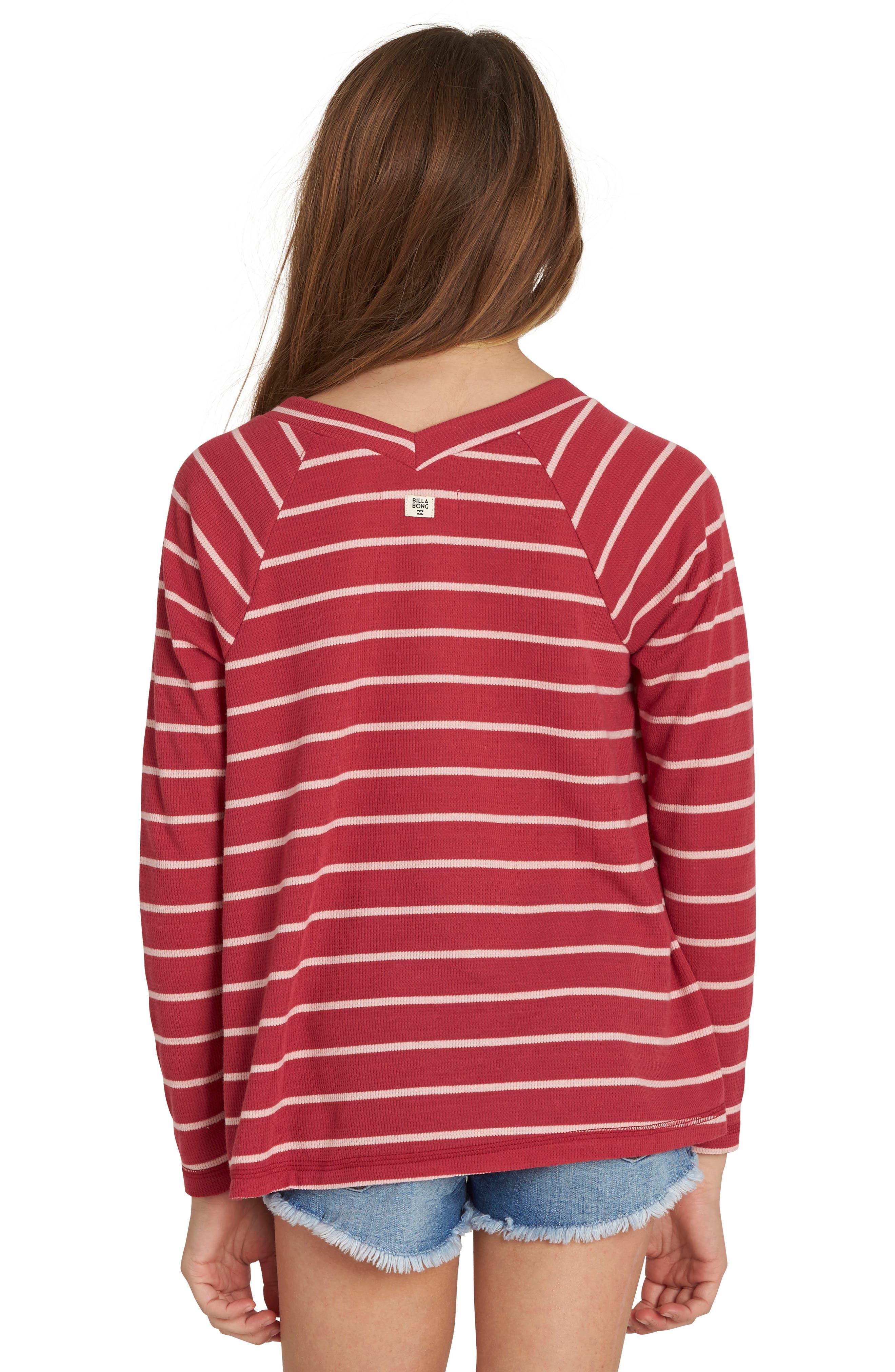 Alternate Image 2  - Billabong Ocean Tides Waffle Knit Tee (Little Girls & Big Girls)