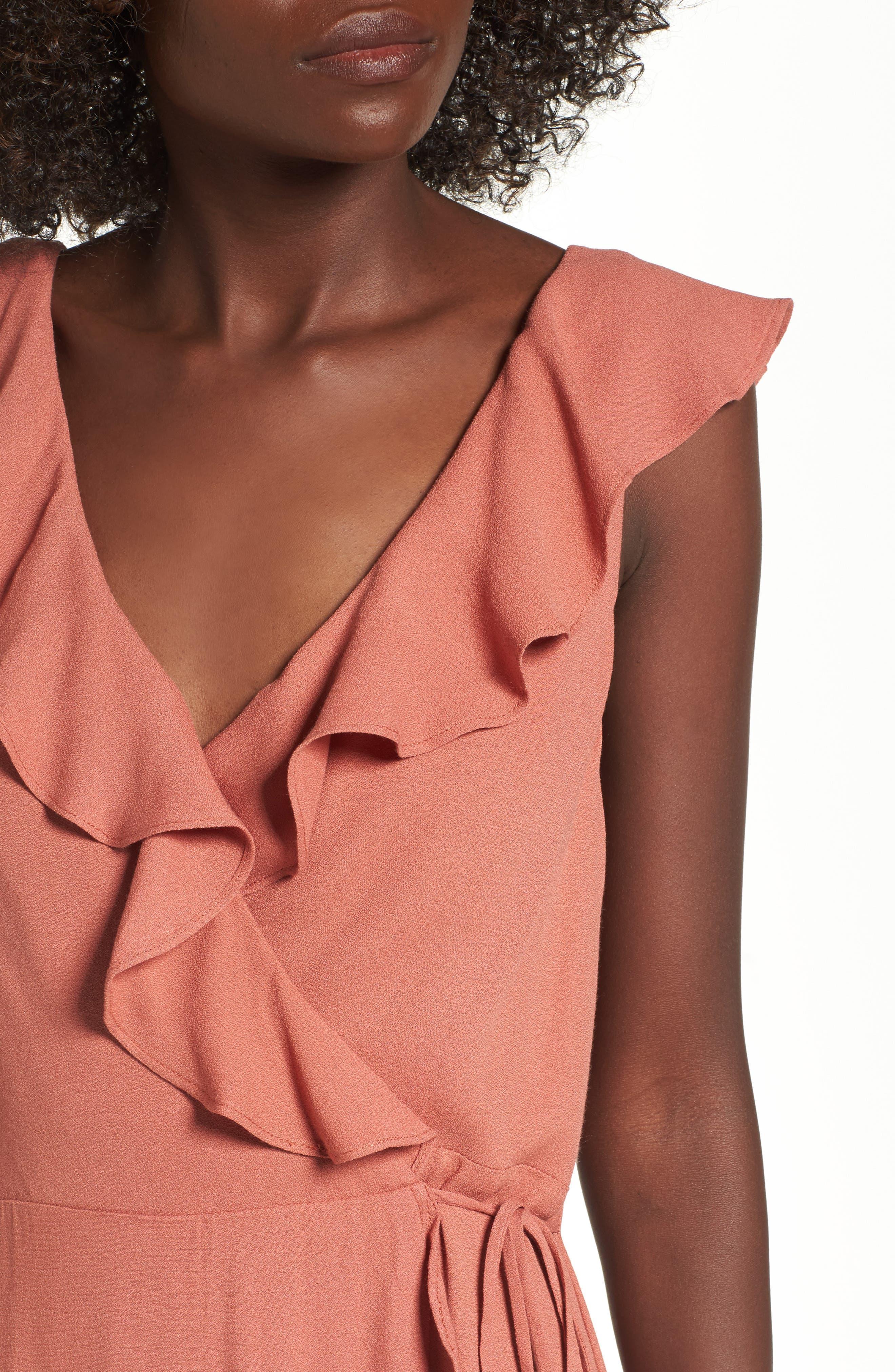 Alternate Image 4  - AFRM Wade Wrap Maxi Dress