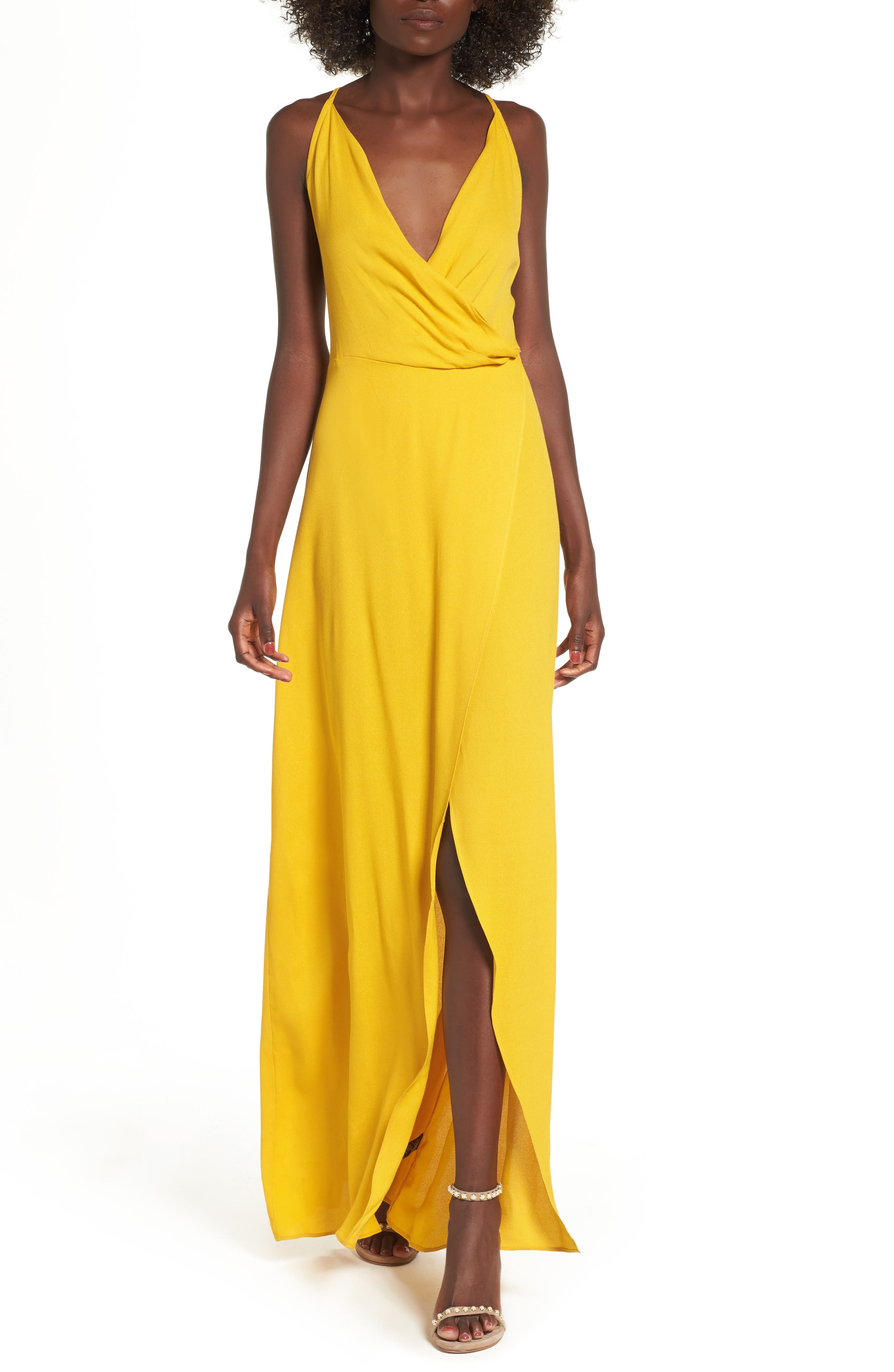 AFRM Kinsely Faux-Wrap Maxi Dress