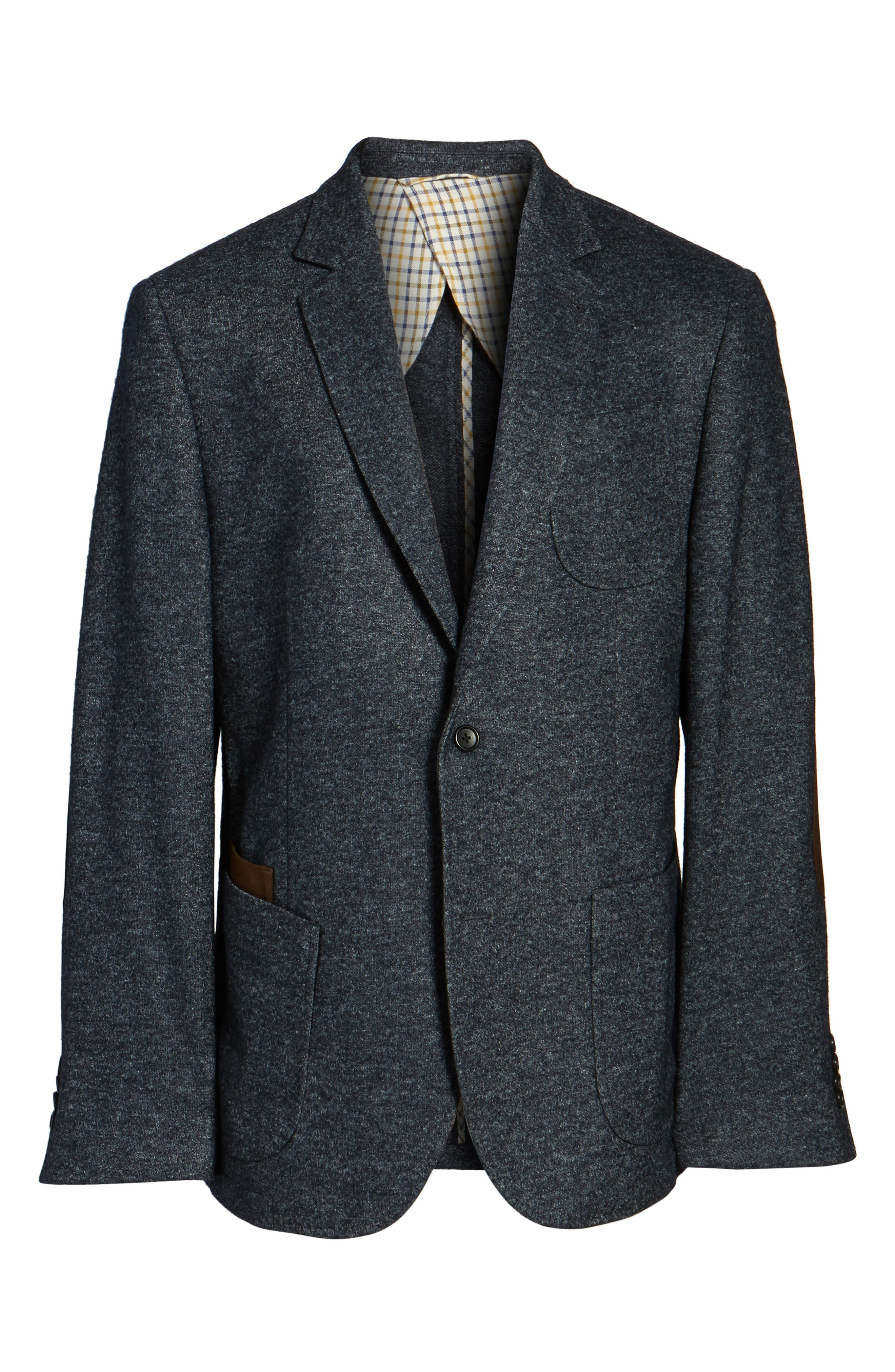 Alternate Image 6  - FLYNT Classic Fit Suede Trim Jersey Sport Coat