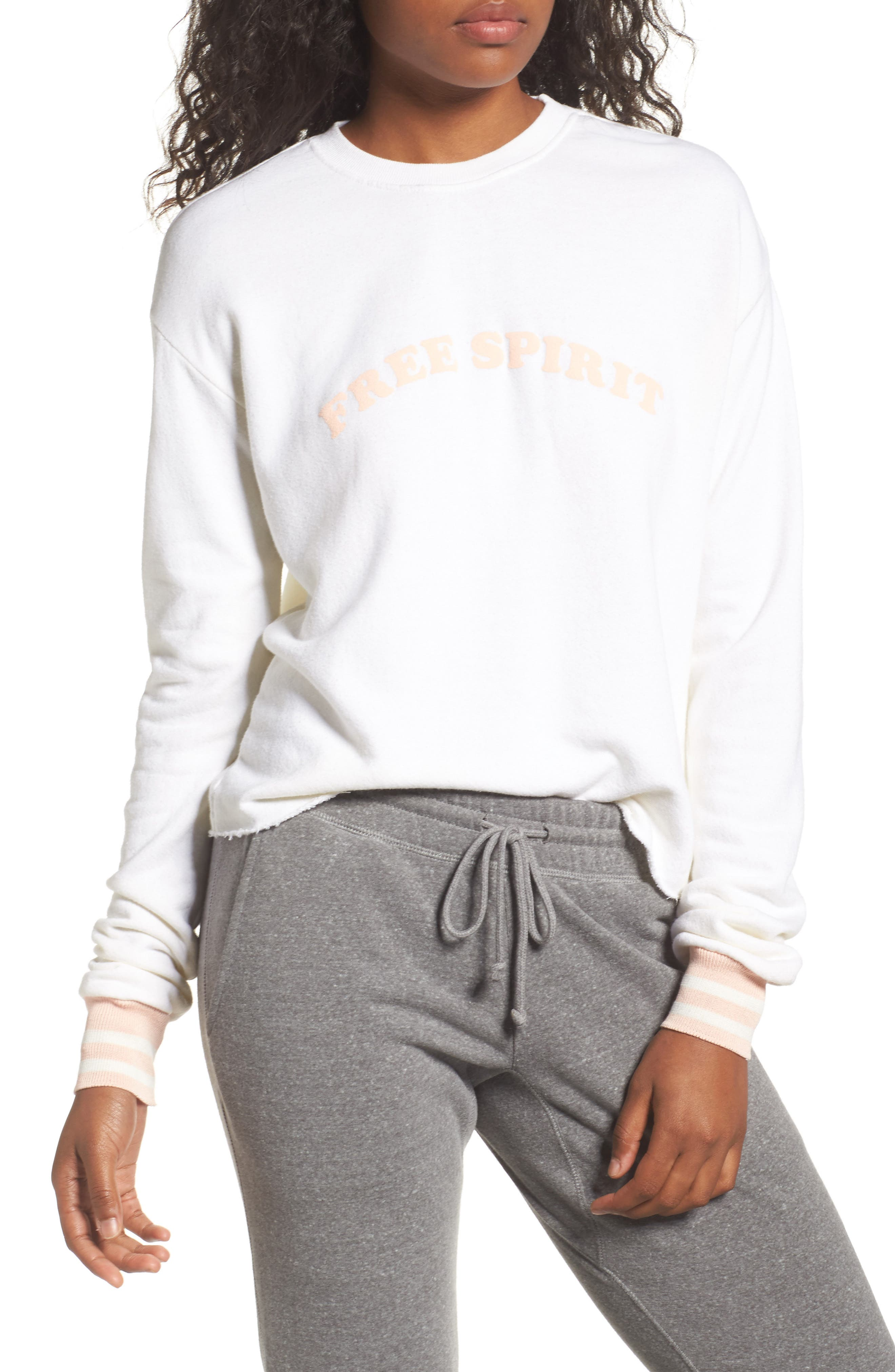 Free Spirit Crop Sweatshirt,                         Main,                         color, Stardust