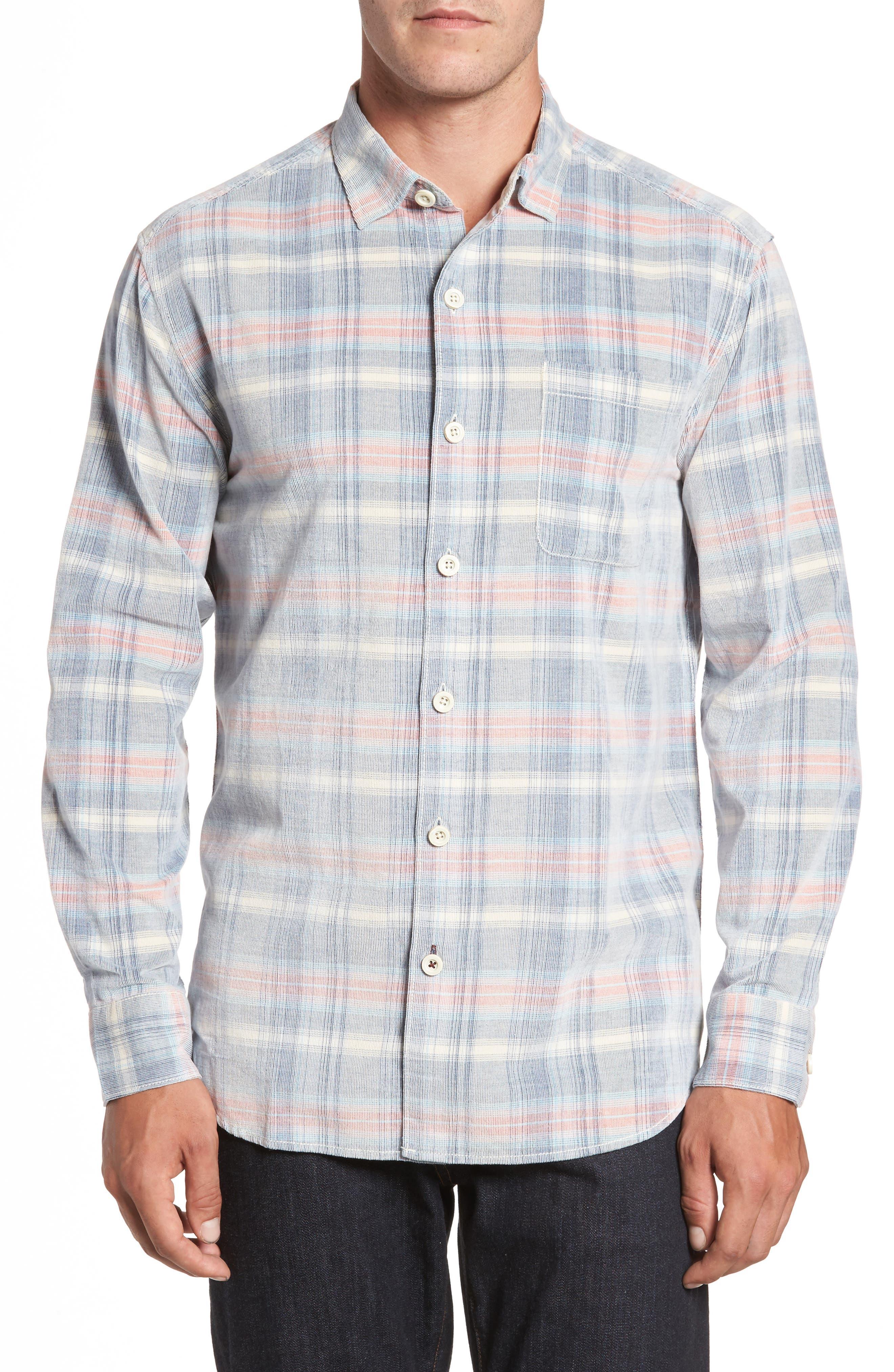 Cordwalk Plaid Plaid Sport Shirt,                         Main,                         color, Bering Blue