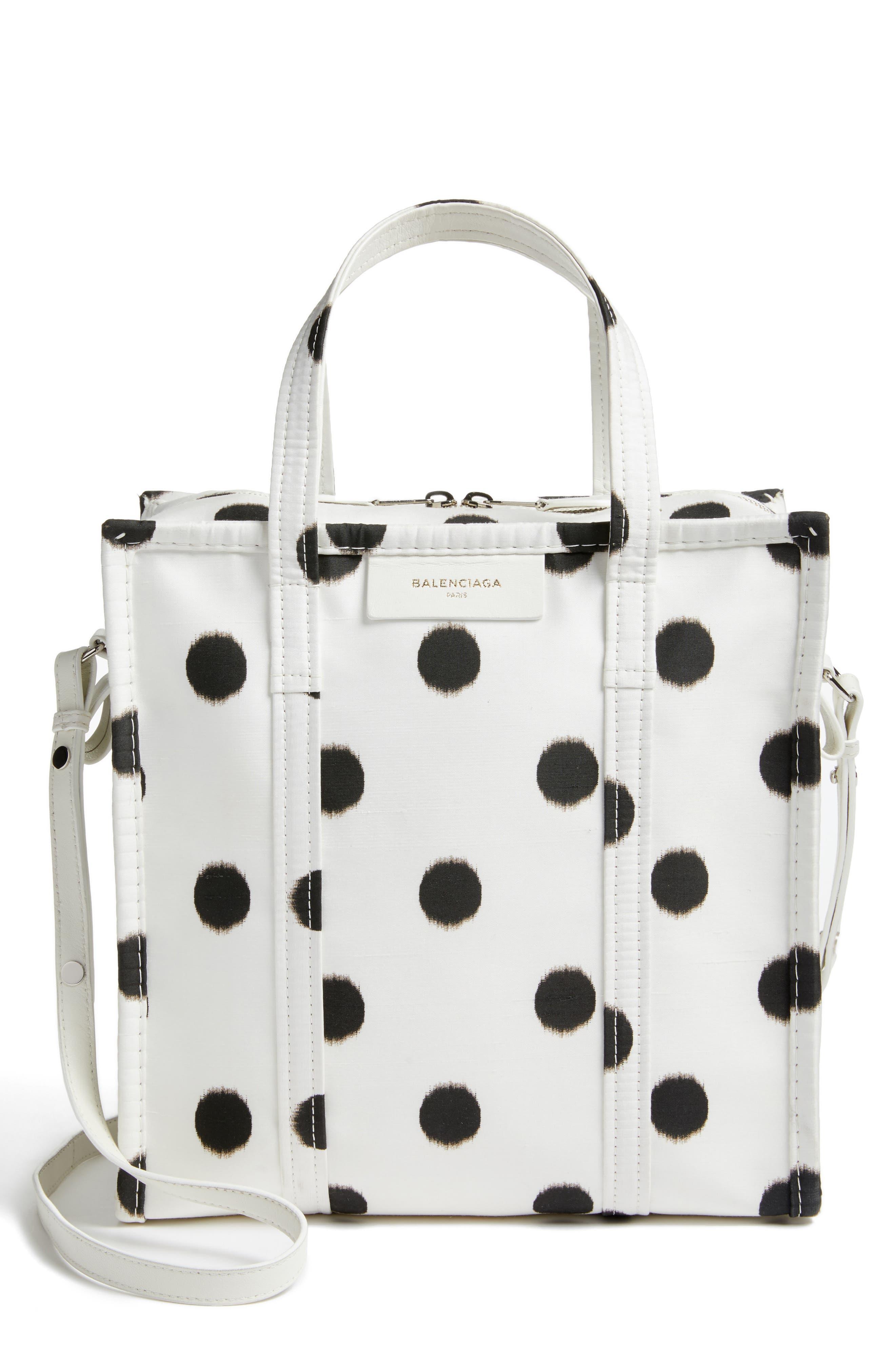 Main Image - Balenciaga Small Polka Dot Bazar Silk Shopper