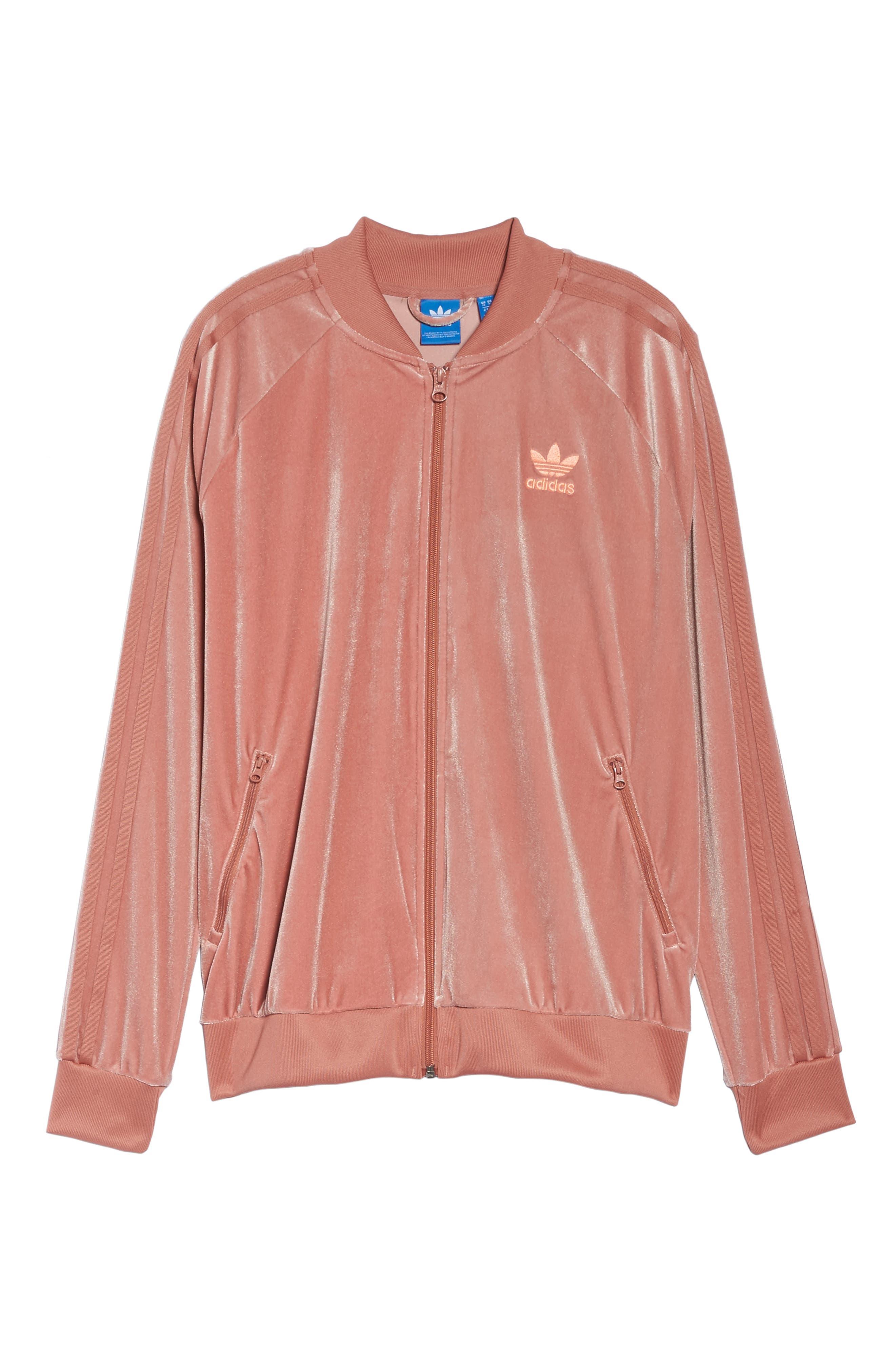 Alternate Image 6  - adidas originals Velvet Zip Sweatshirt