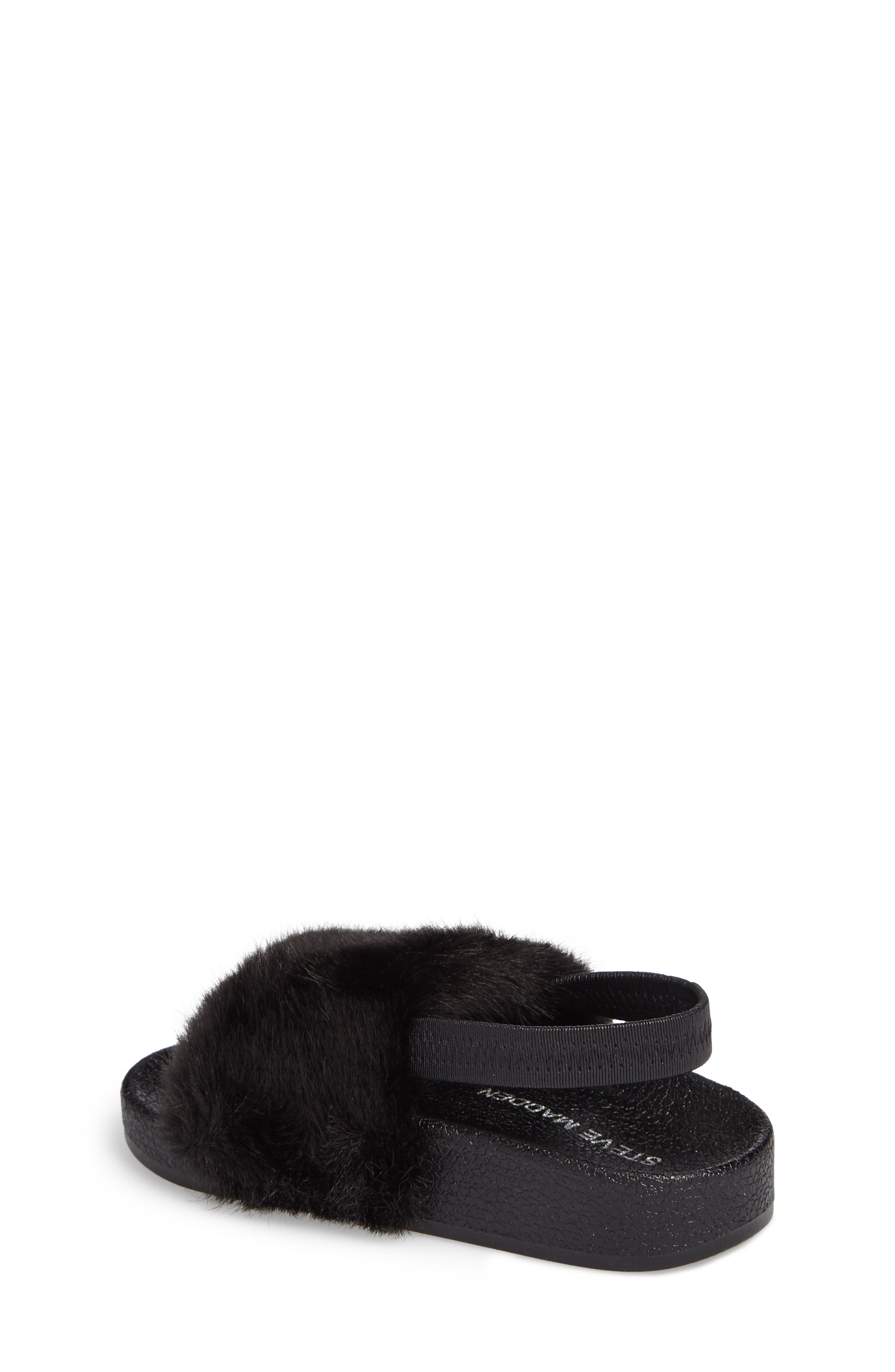 Alternate Image 2  - Steve Madden Tsoftey Faux Fur Slide Sandal (Toddler)