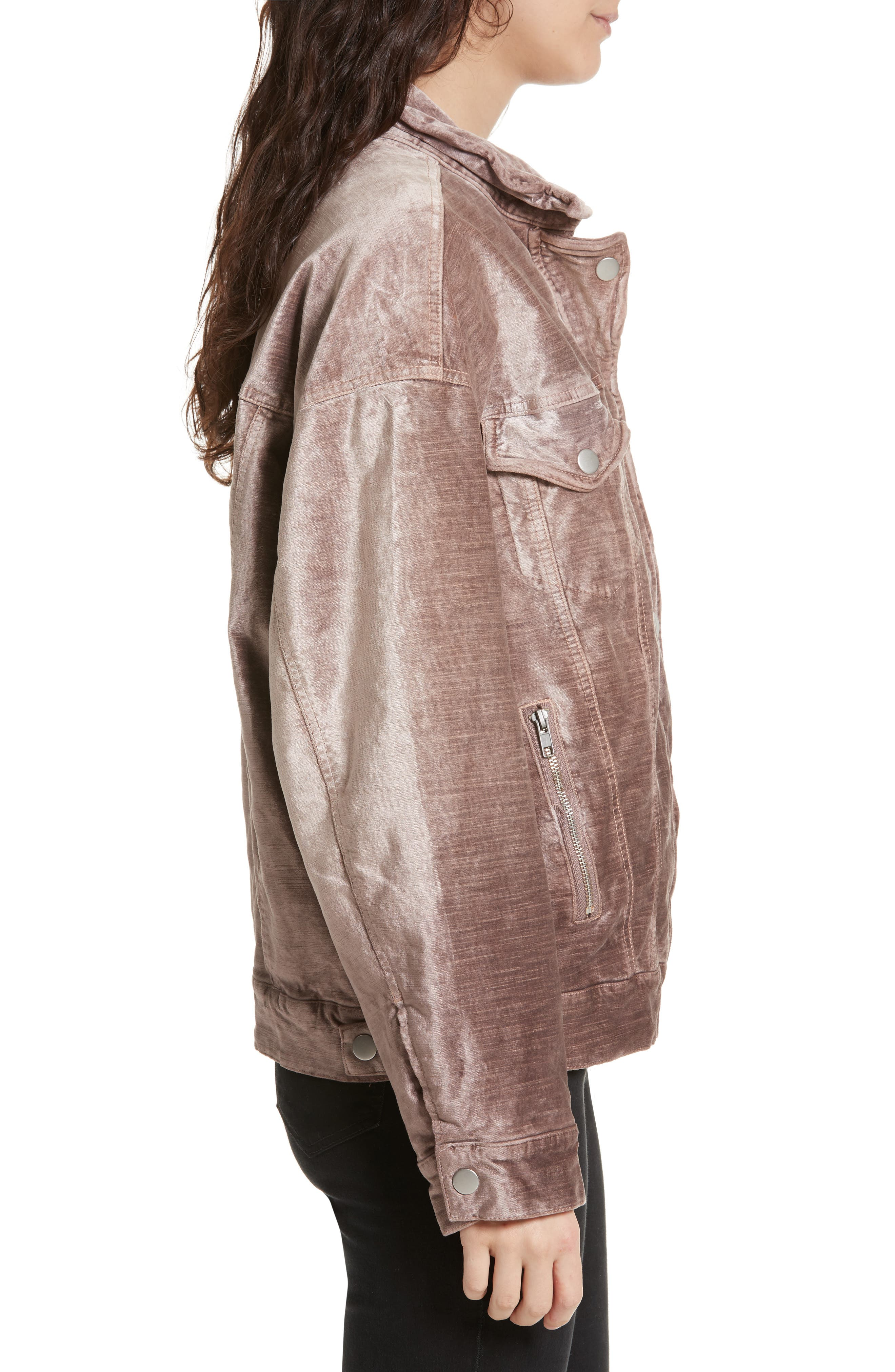Alternate Image 3  - Free People Velvet Trucker Jacket