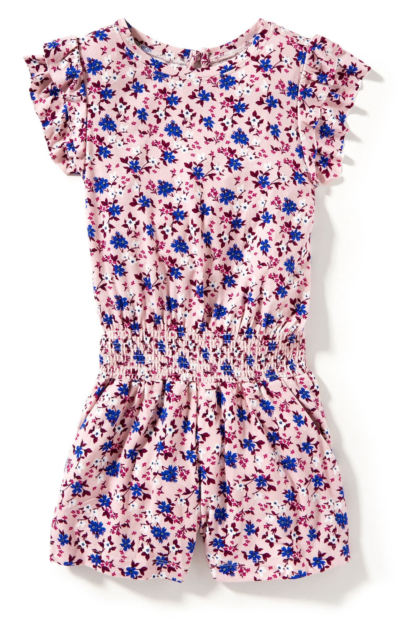 Peek Ollie Floral Print Romper (Toddler Girls, Little Girls & Big Girls)