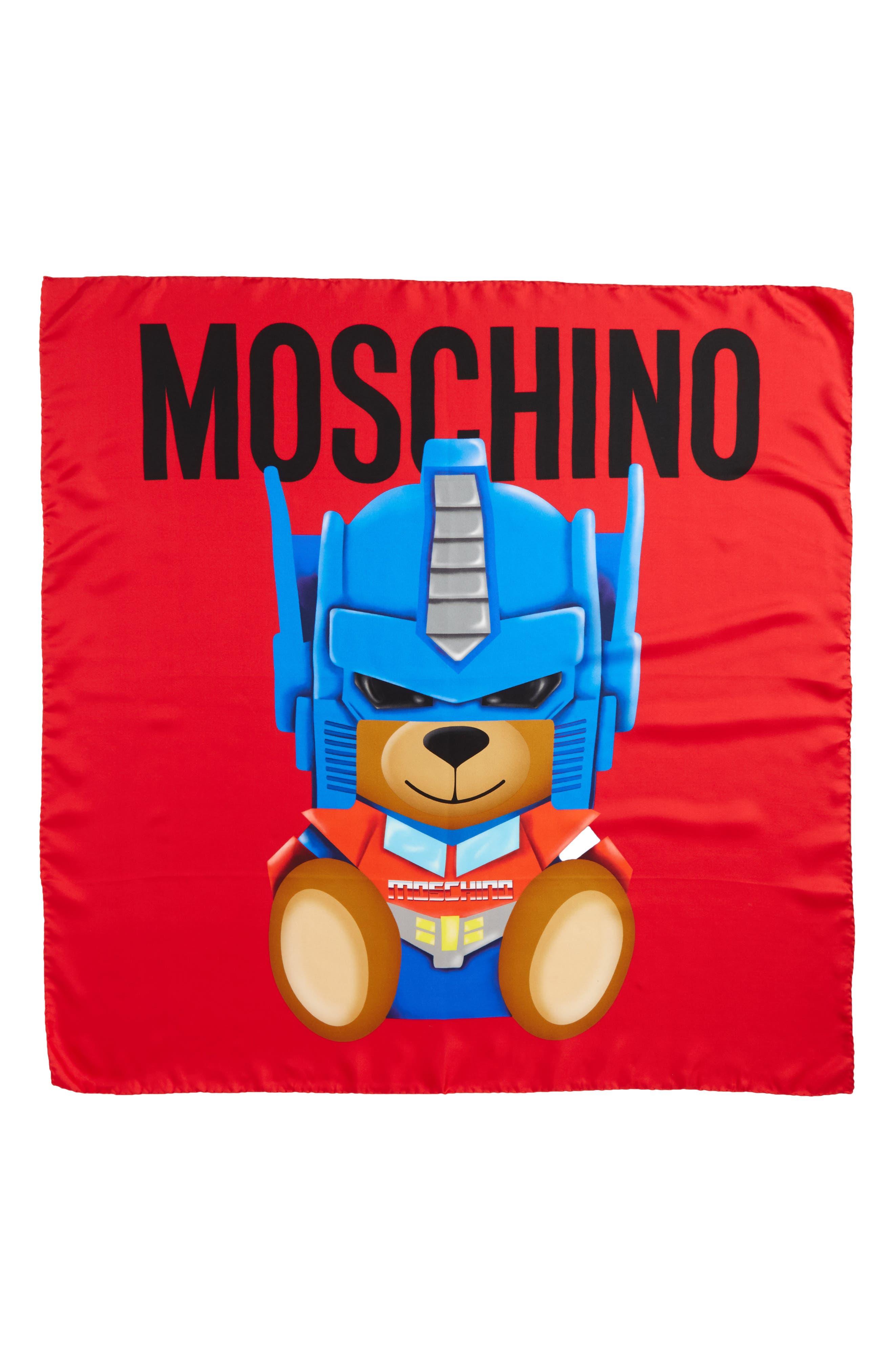 MOSCHINO Transformers<sup>®</sup> Print Silk Scarf