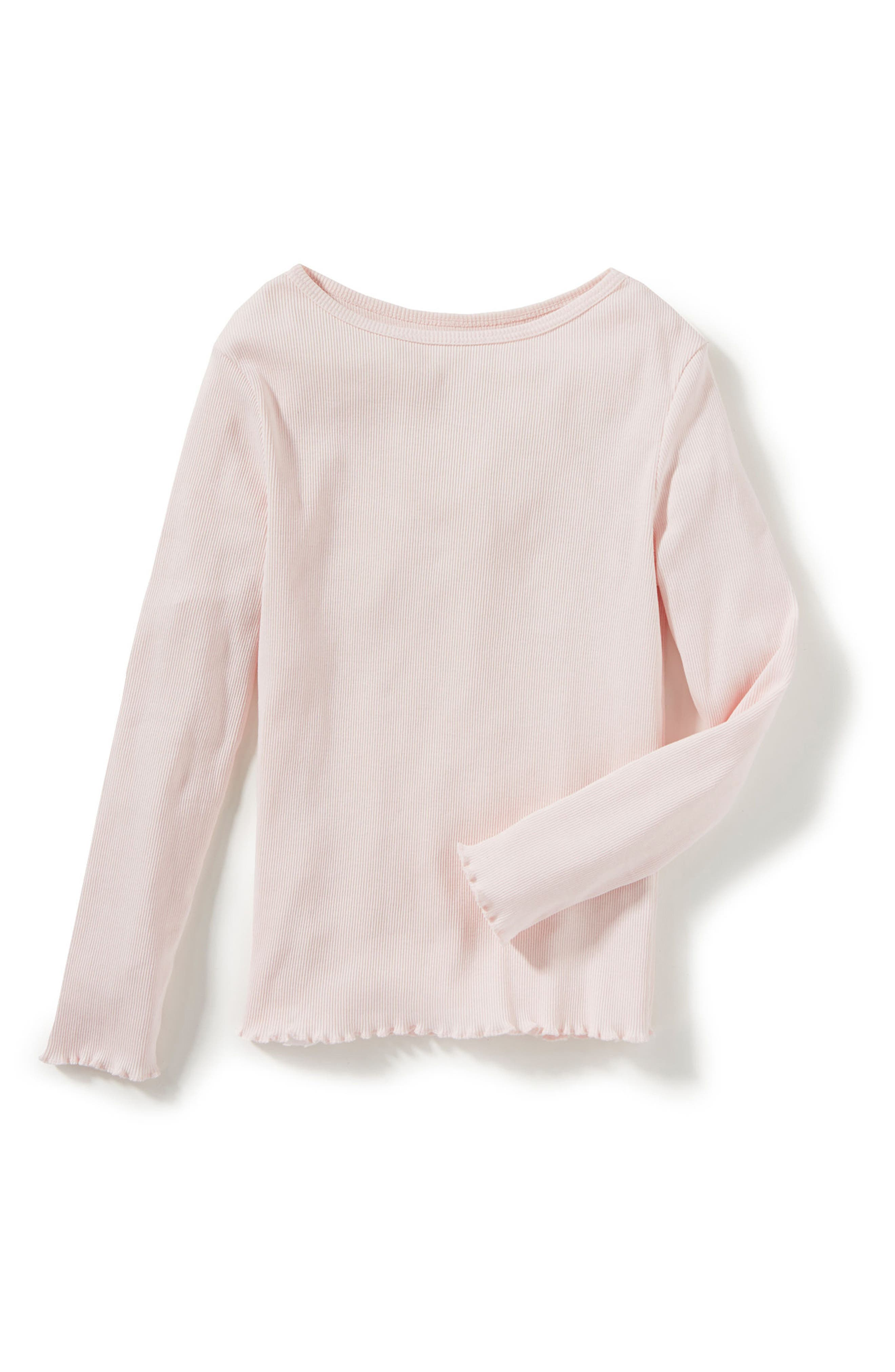 Marie Long Sleeve Tee,                         Main,                         color, Light Pink