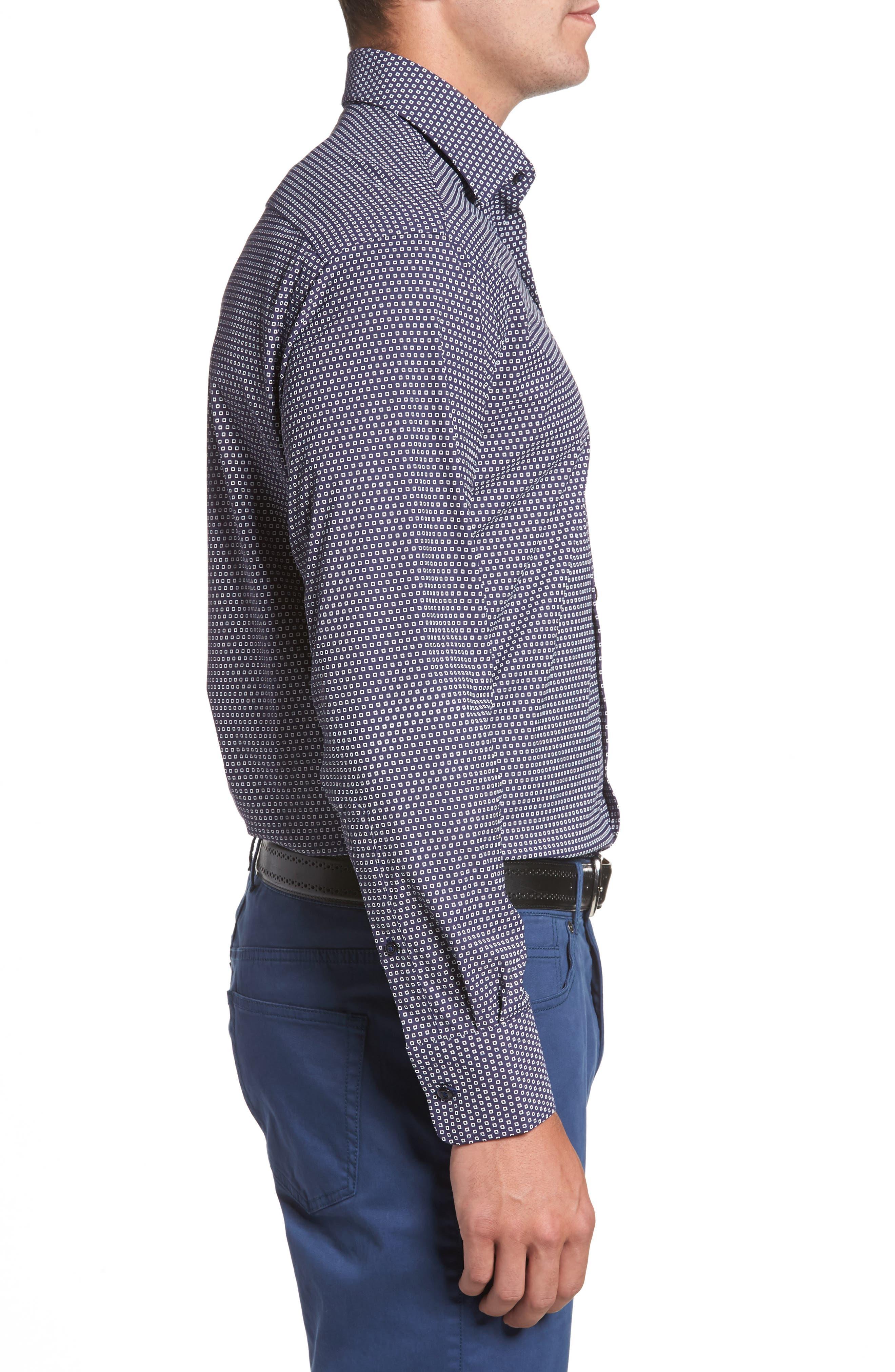 Alternate Image 3  - Peter Millar Chex Regular Fit Performance Sport Shirt