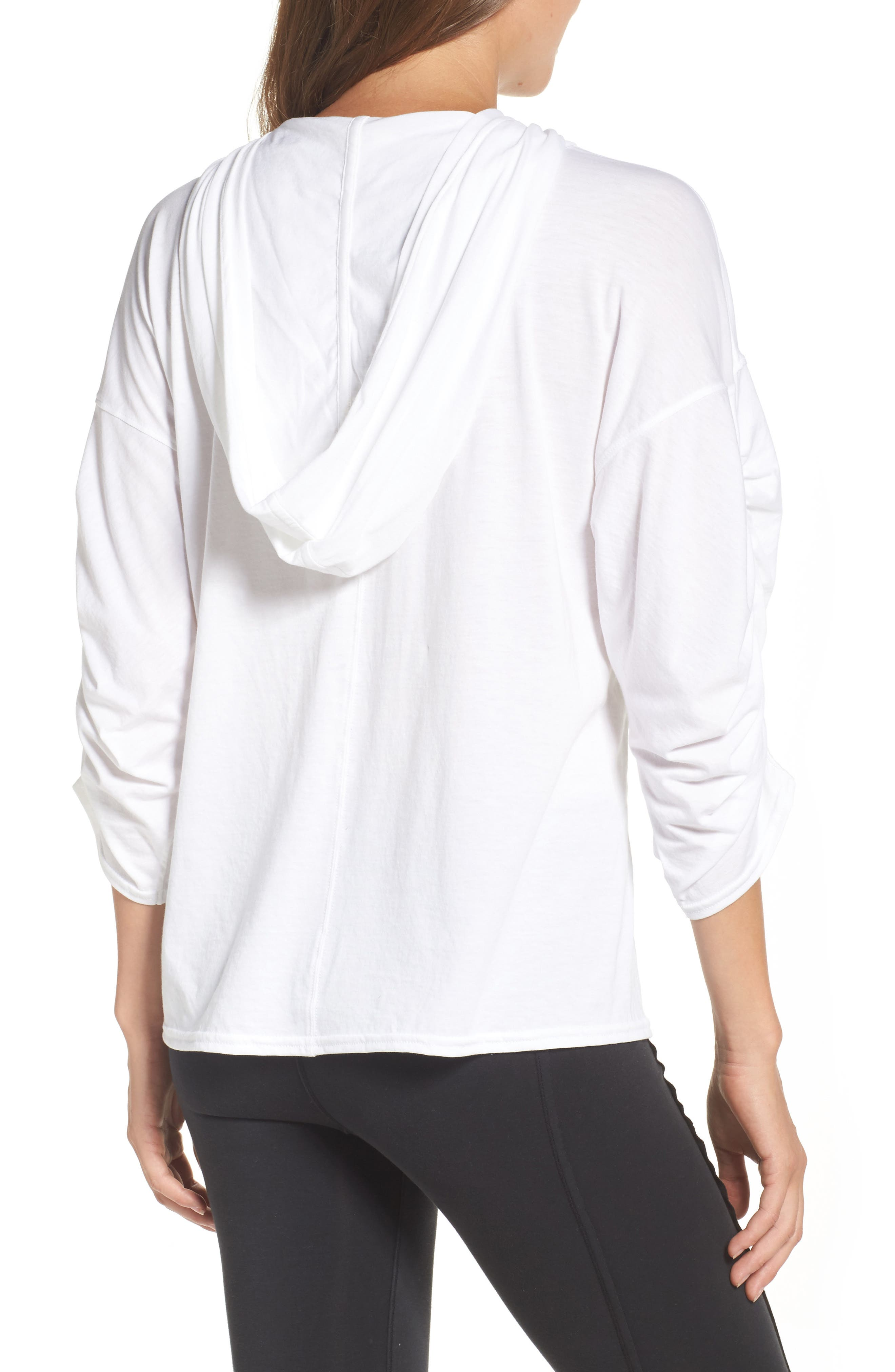 FP Movement Horizon Hooded Tee,                             Alternate thumbnail 3, color,                             White