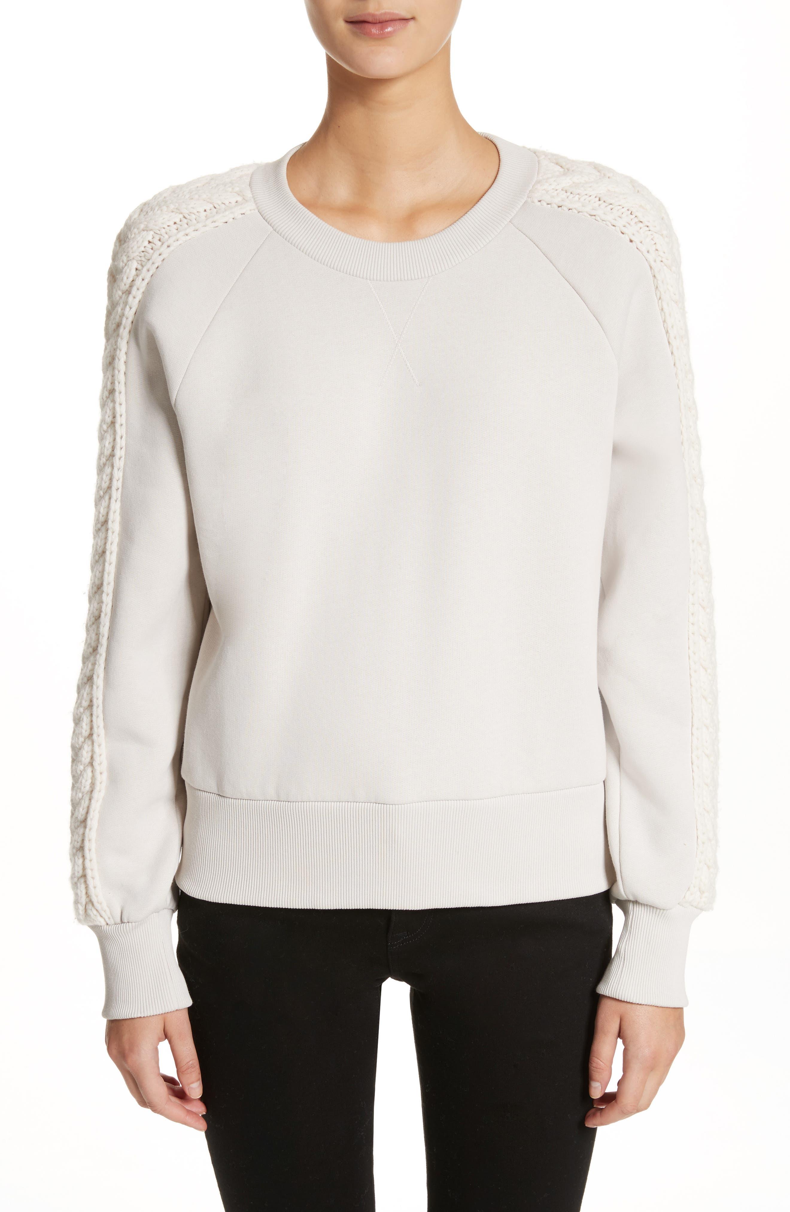 Selho Sweatshirt,                         Main,                         color, Winter White