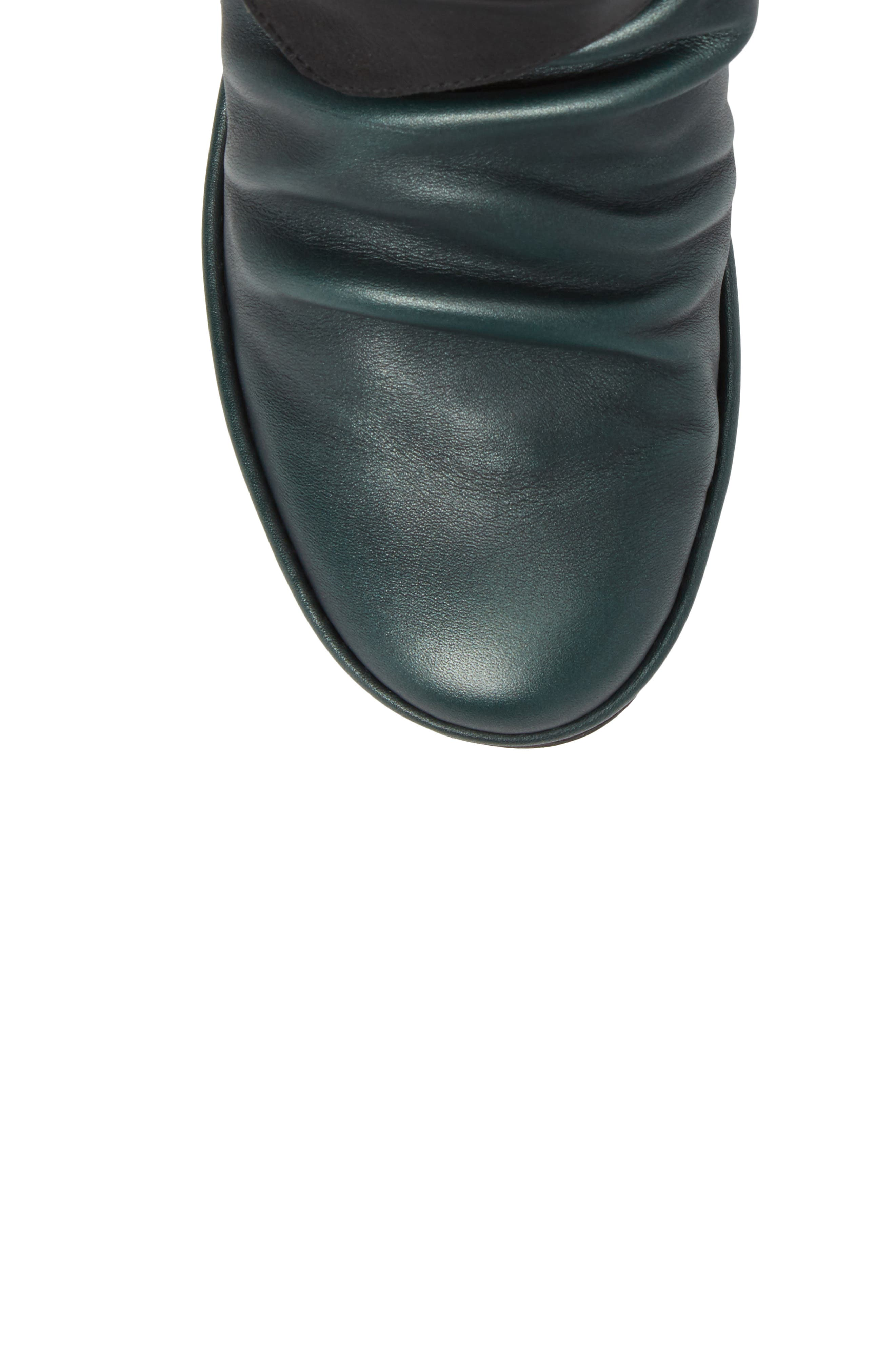 Yoxi Wedge Bootie,                             Alternate thumbnail 5, color,                             Seaweed Leather