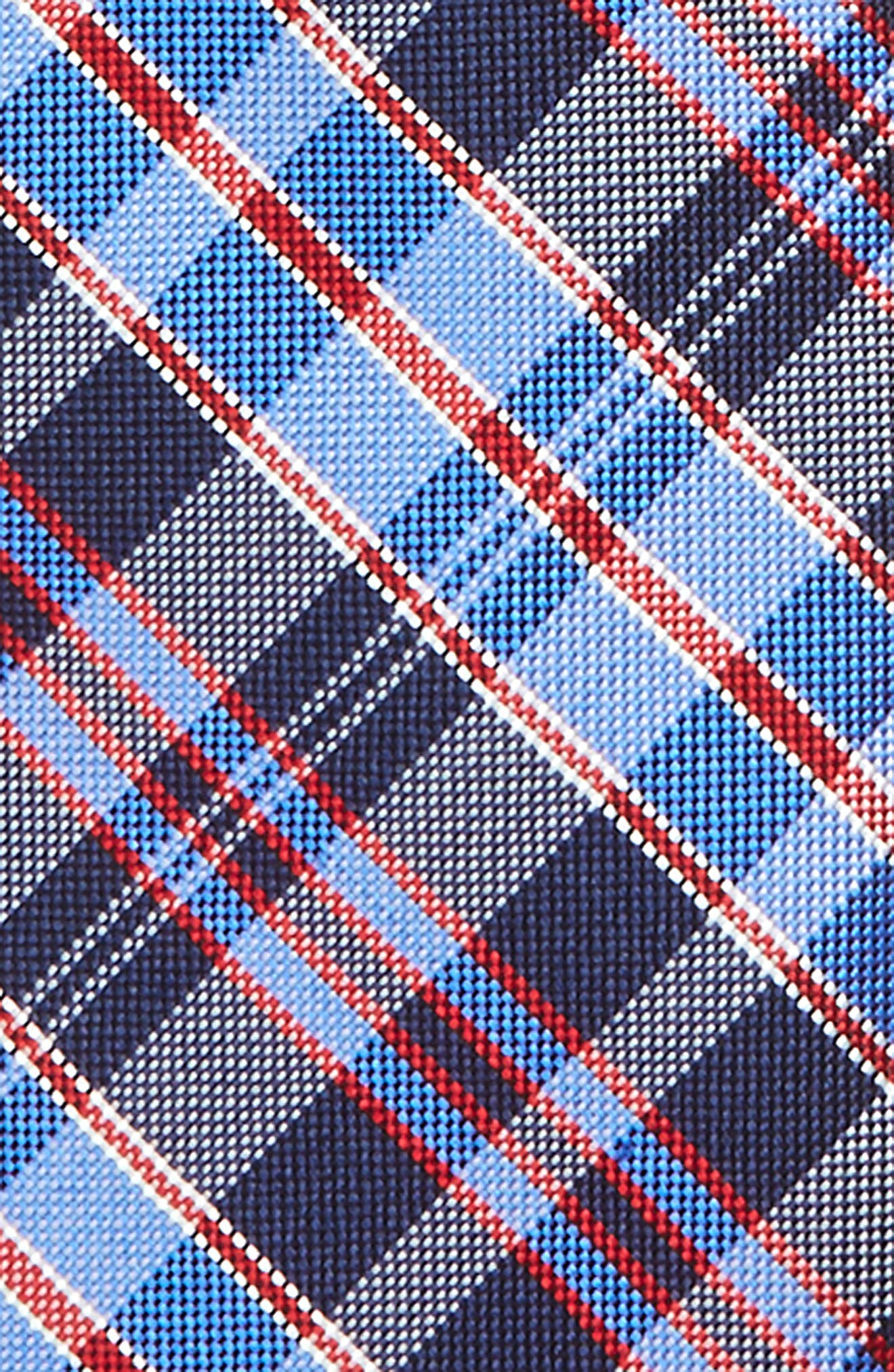 Alternate Image 2  - Nordstrom Plaid Silk Zip Tie (Big Boys)