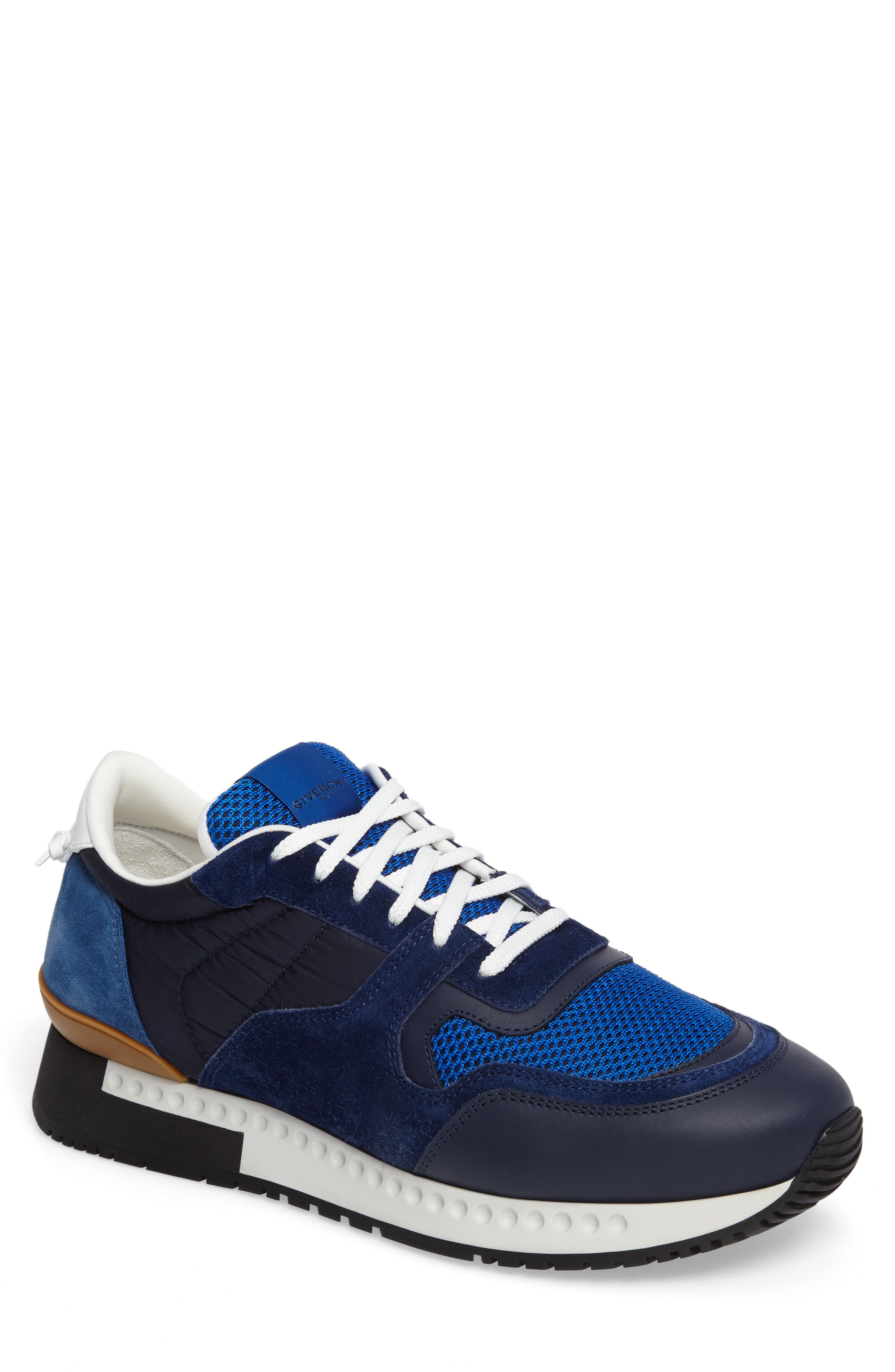 Alternate Image 1 Selected - Givenchy Mixed-Finish Sneaker (Men)