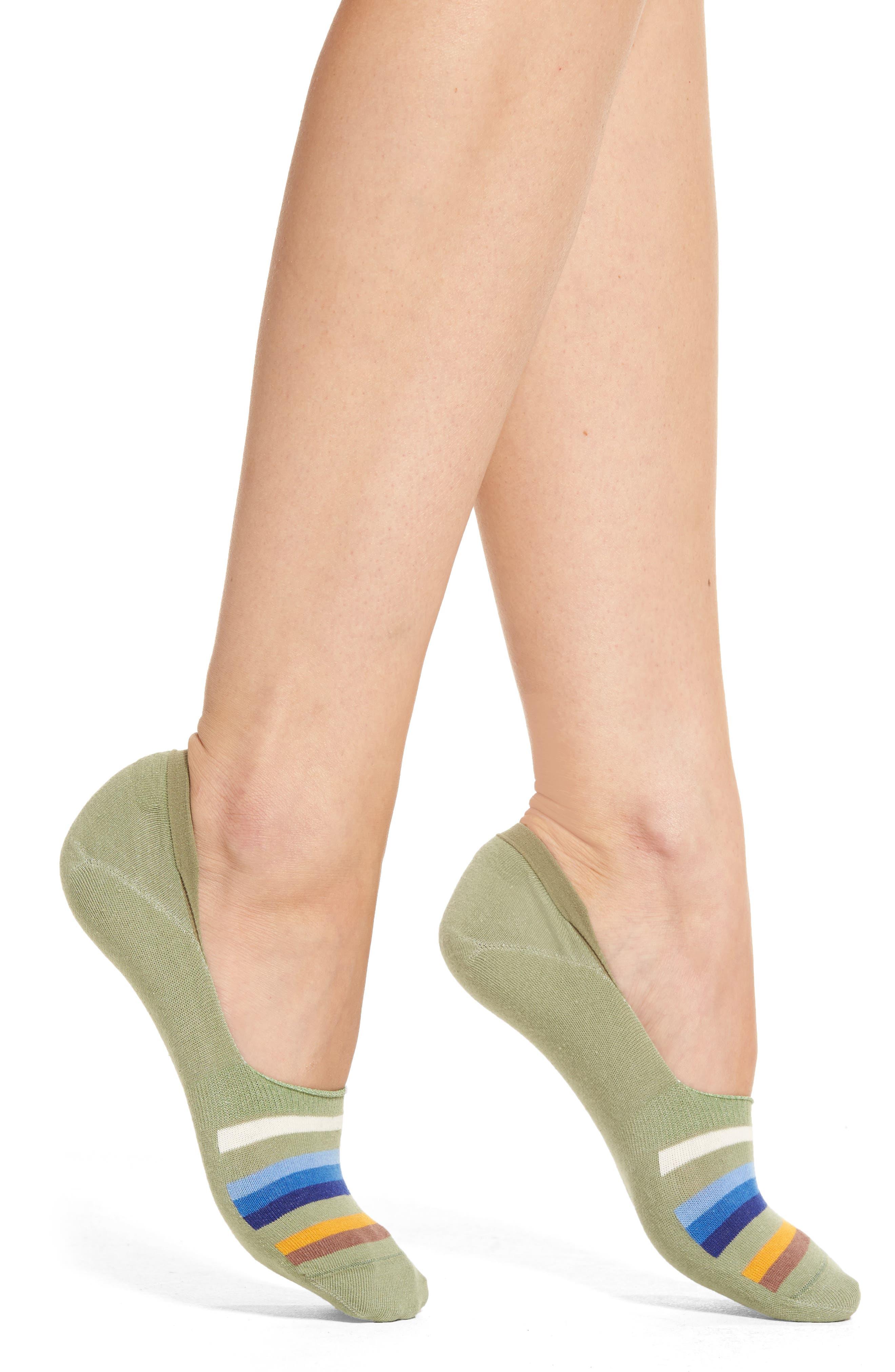 No-Show Socks,                         Main,                         color, Green