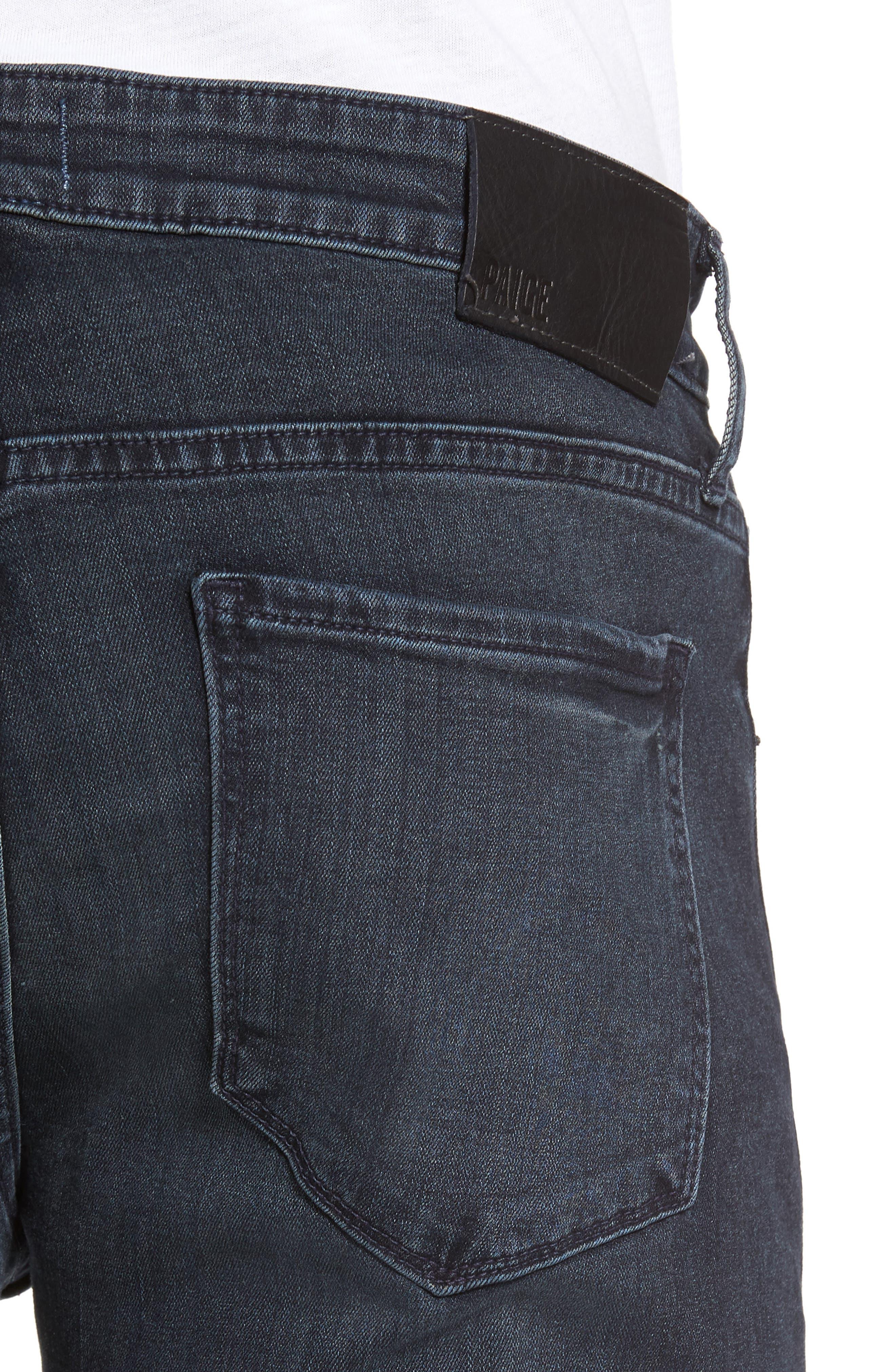 Straight Leg Jeans,                             Alternate thumbnail 4, color,                             Dark Grey