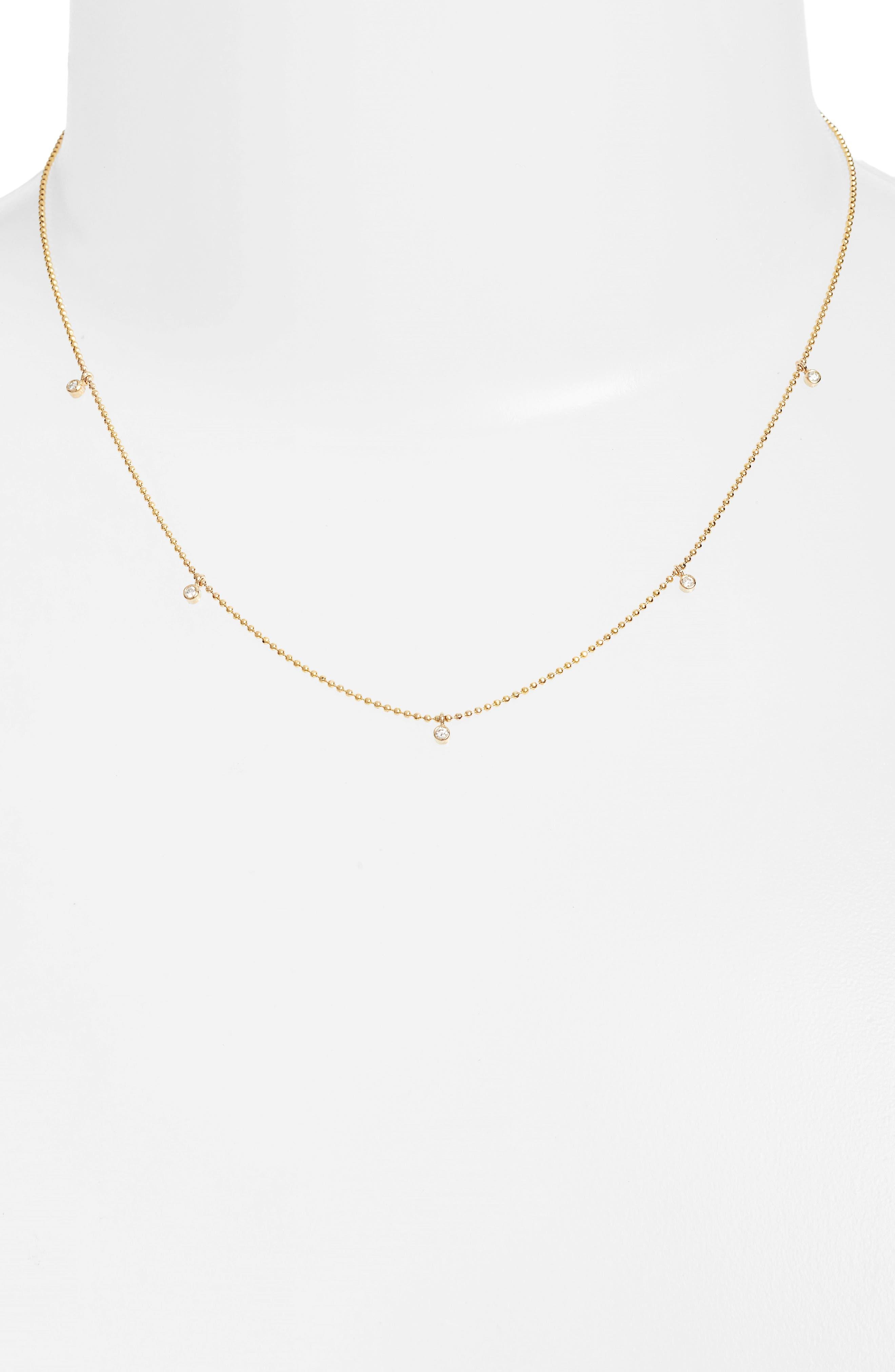 Zoë Chicco Diamond Charm Necklace (Nordstrom Exclusive)