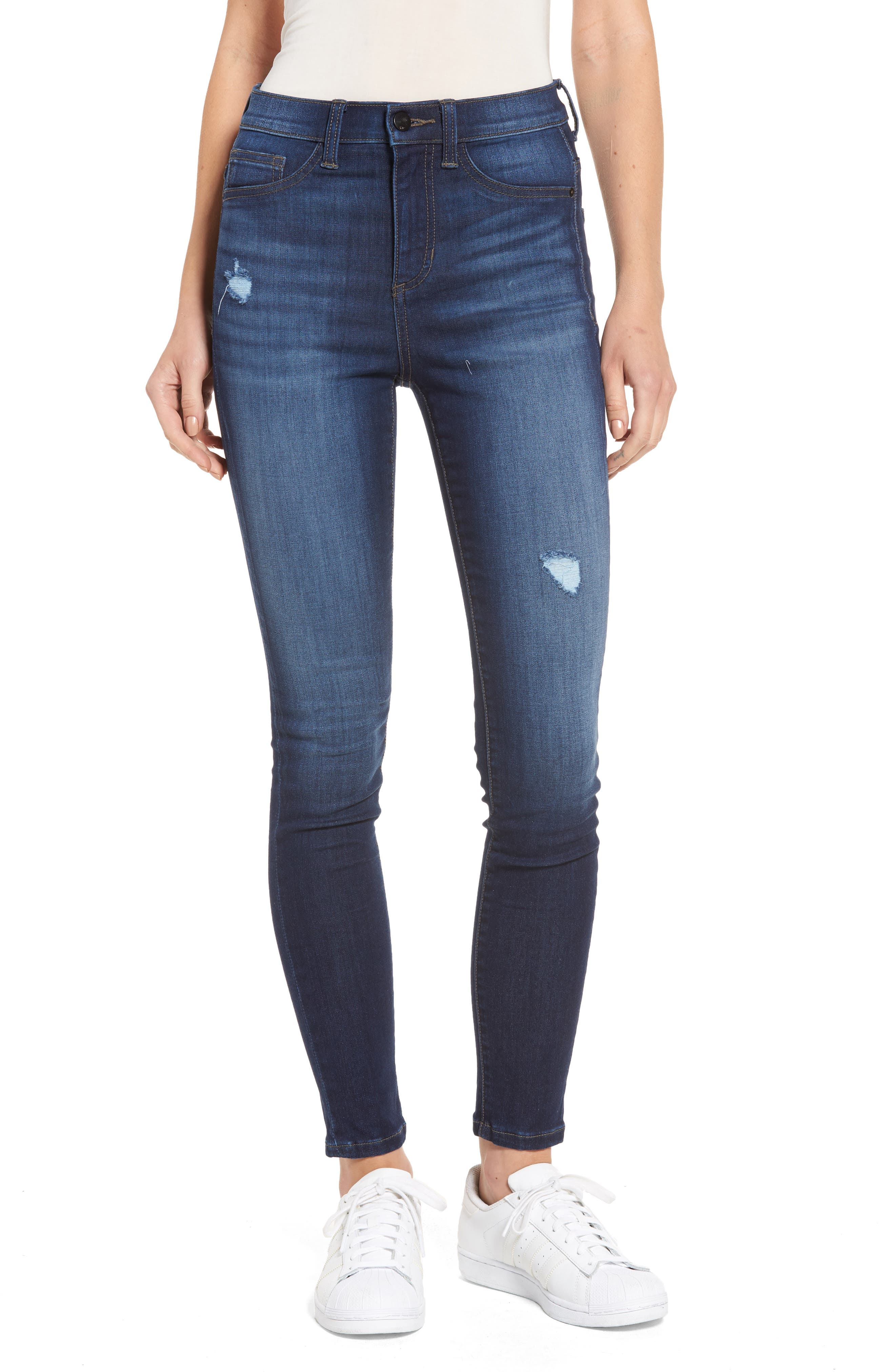 SP Black High Waist Stretch Skinny Jeans
