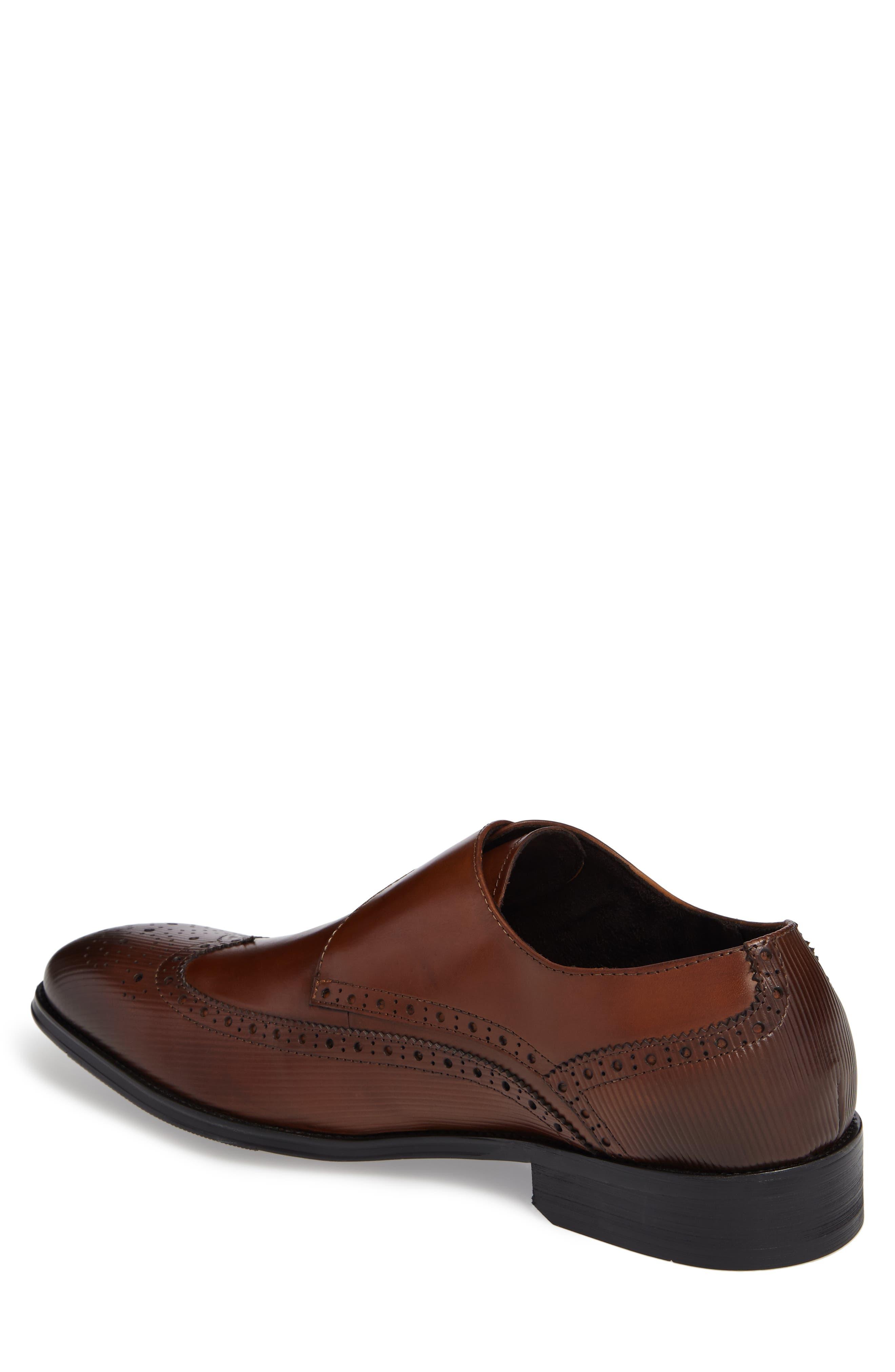Design Monk Strap Shoe,                             Alternate thumbnail 2, color,                             Cognac Leather