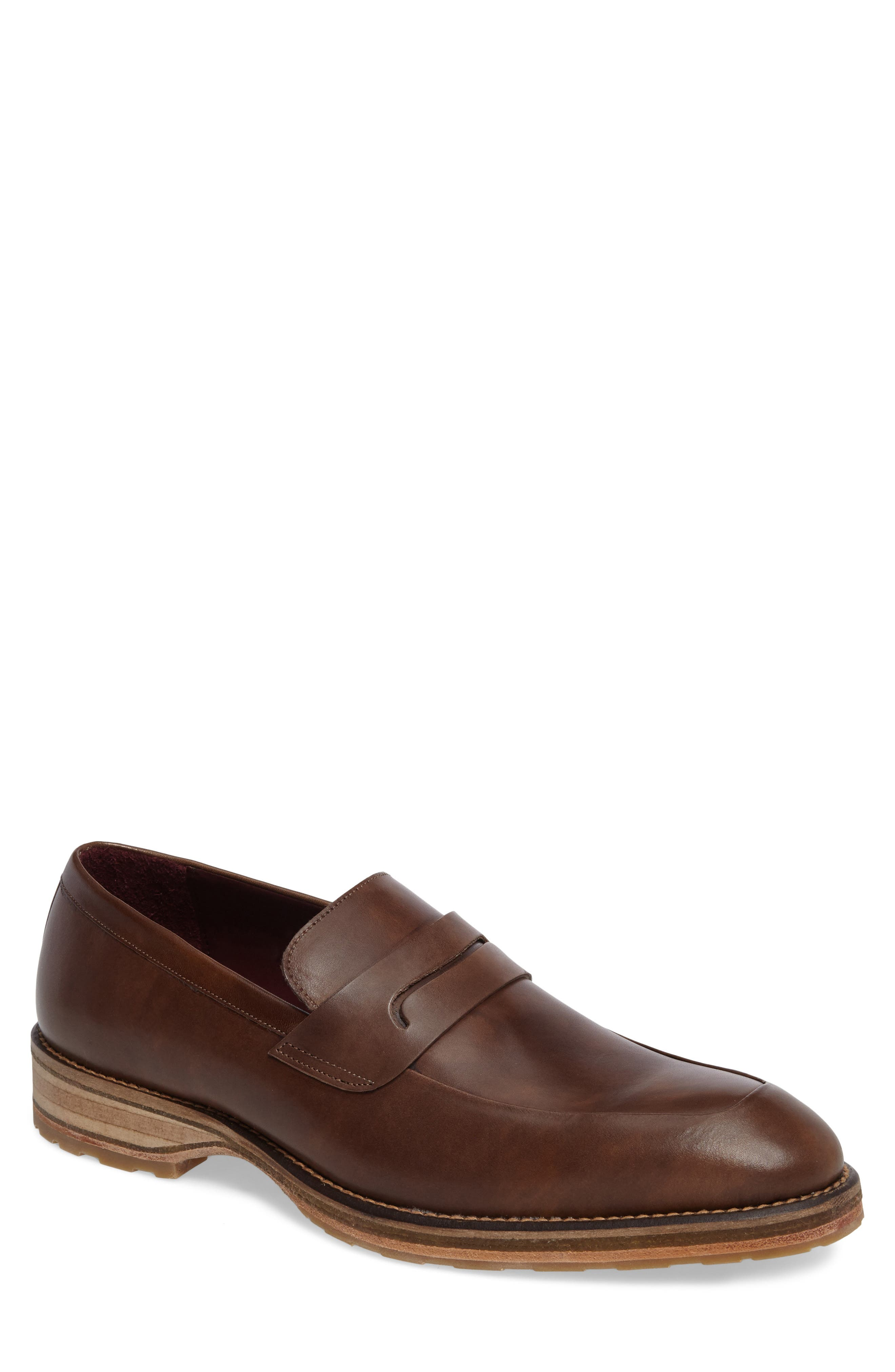 Cantonia Penny Loafer,                         Main,                         color, Taupe Leather
