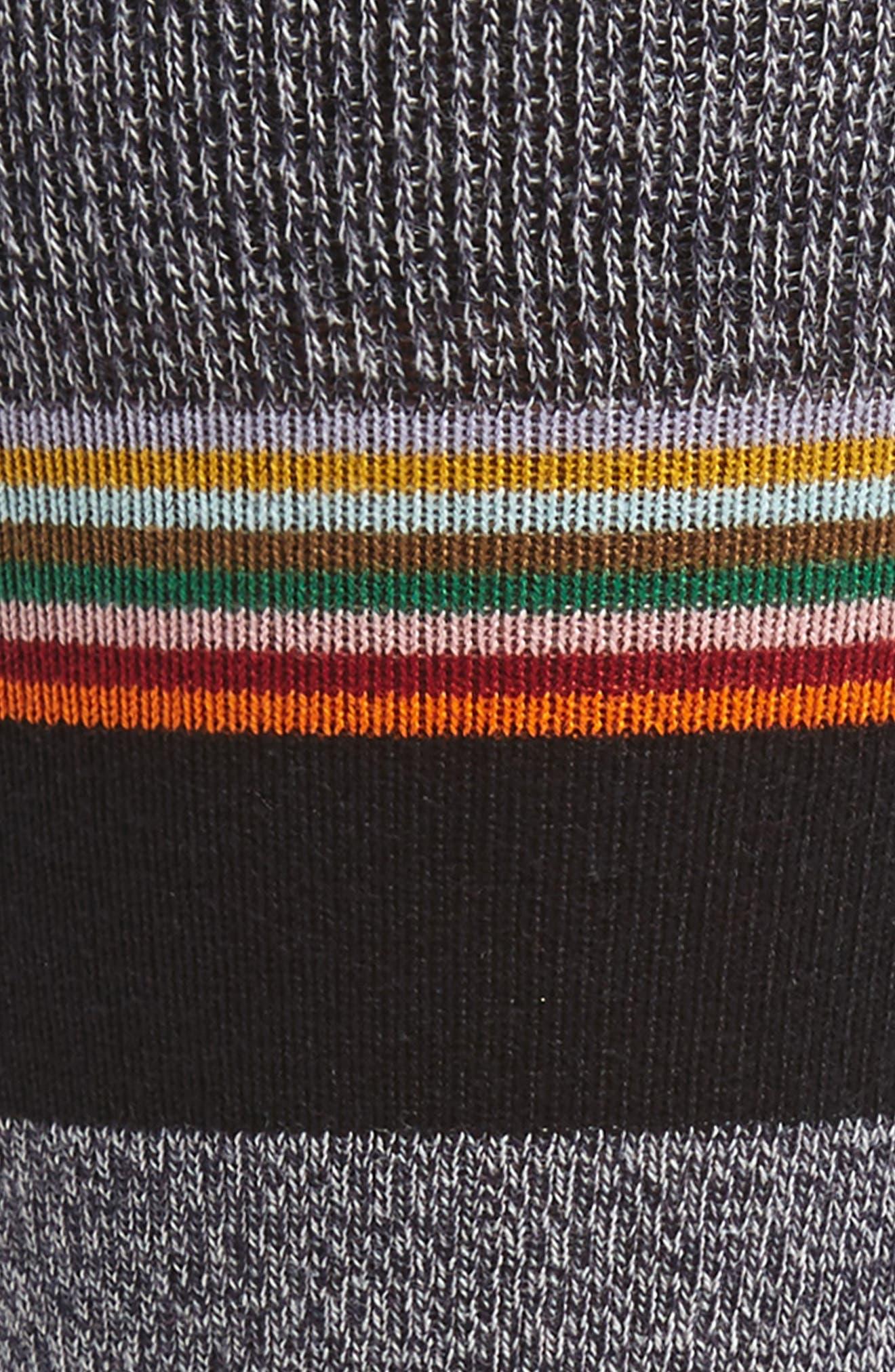 Stripe Socks,                             Alternate thumbnail 2, color,                             Grey/ Black