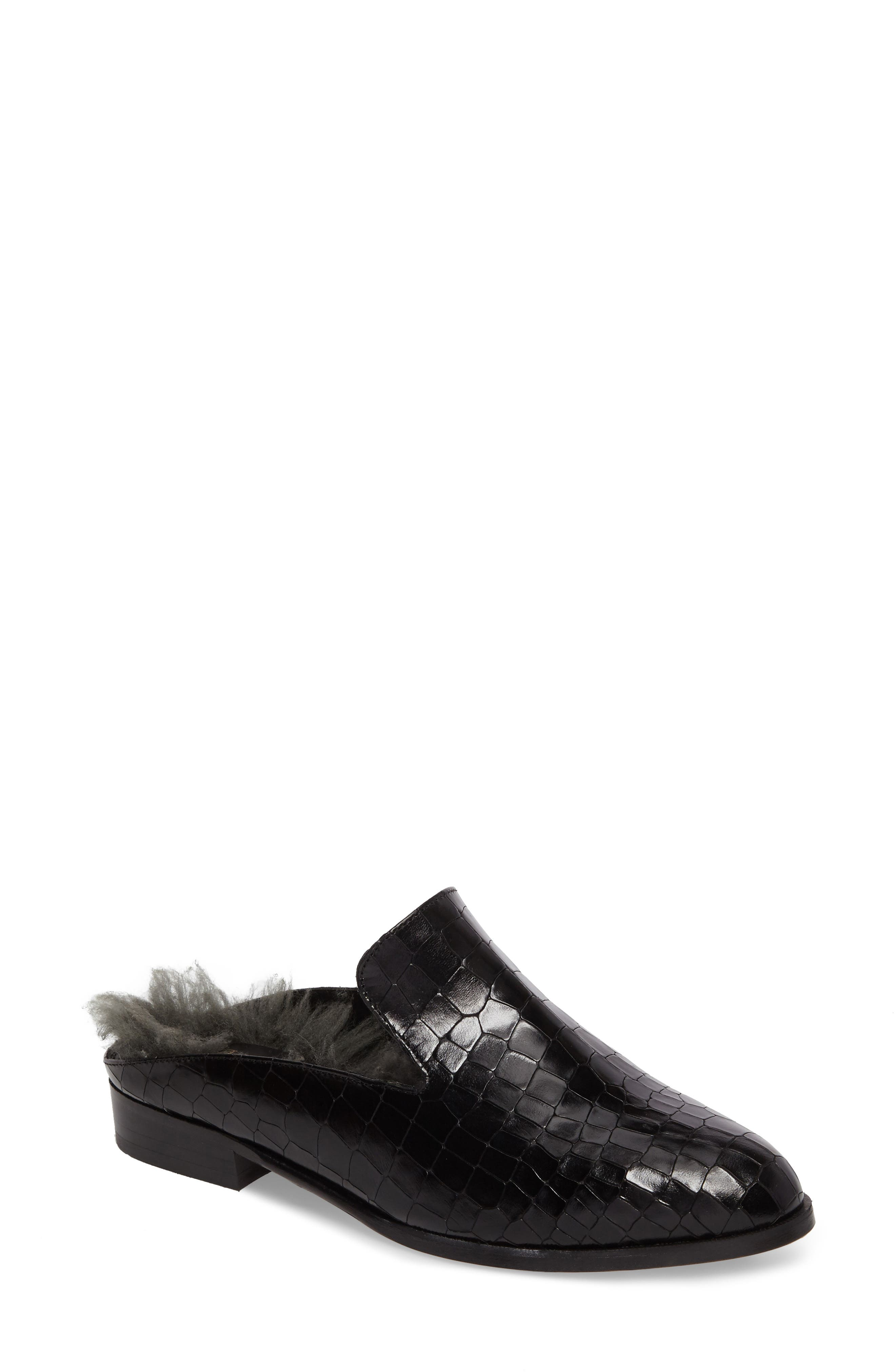 Robert Clergerie Alice Genuine Shearling Lined Mule (Women)