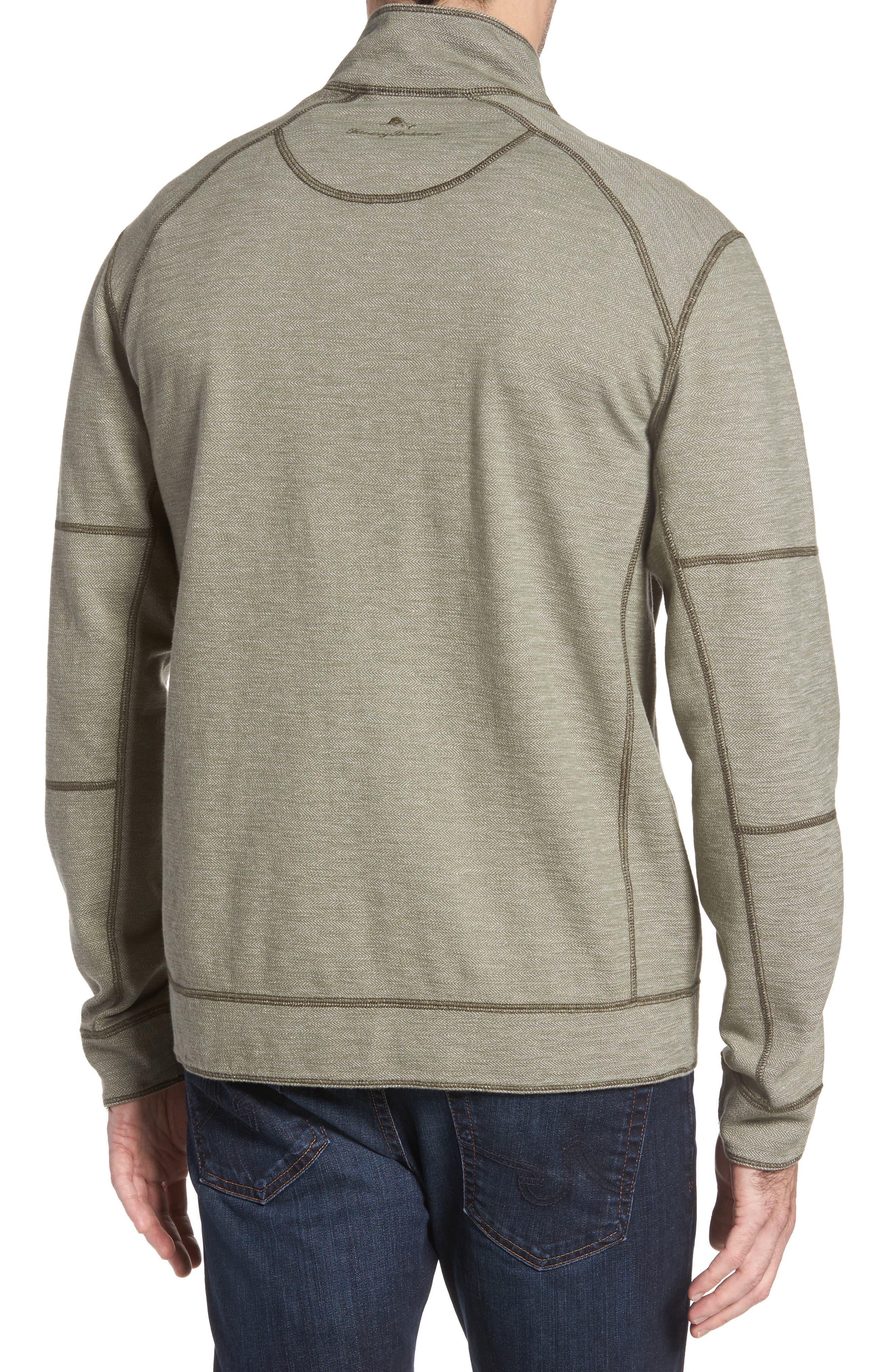 Alternate Image 2  - Tommy Bahama Sandbar Slub Reversible Quarter Zip Pullover