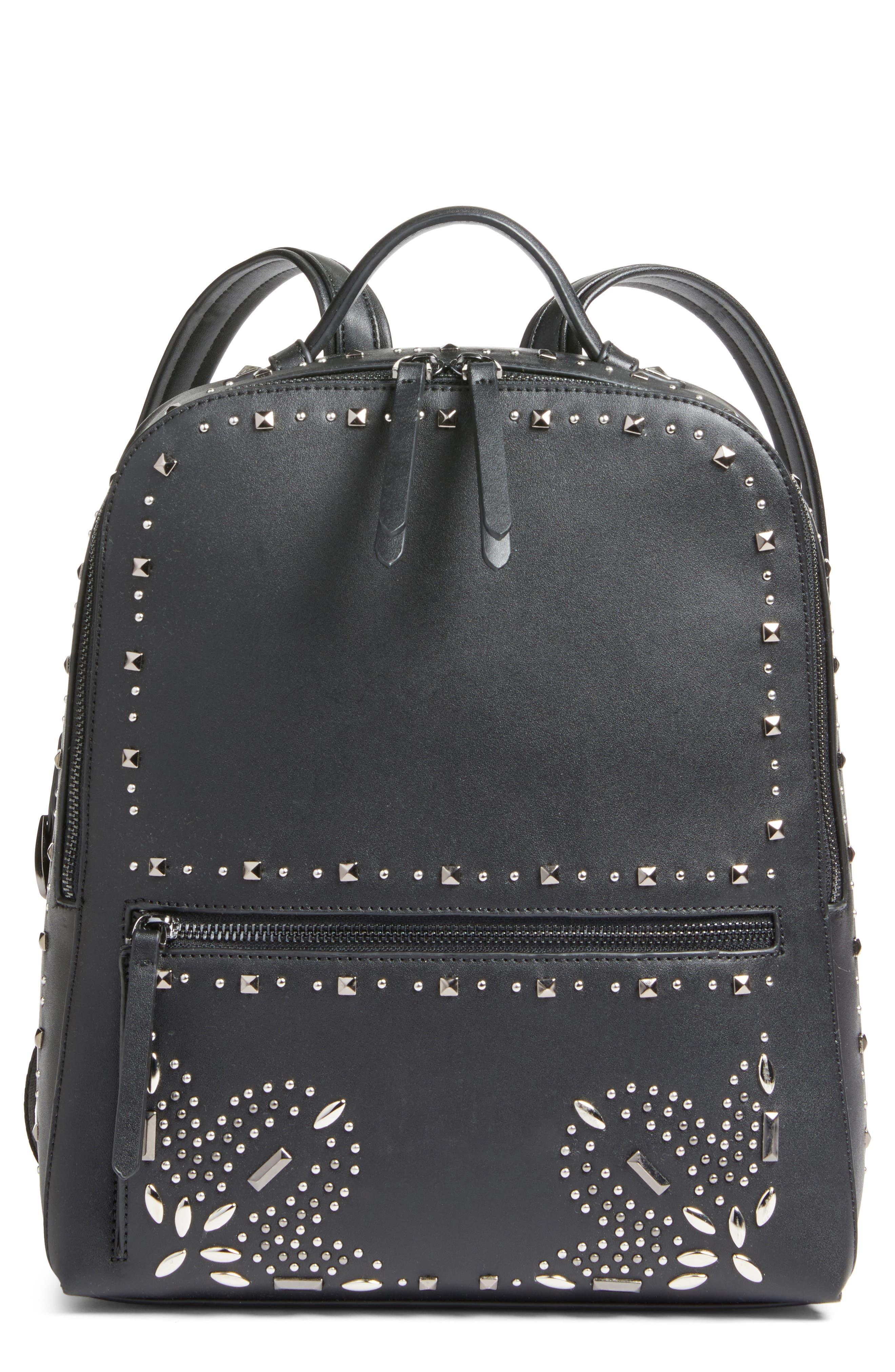 Chelsea28 Brooke Embellished Faux Leather Backpack