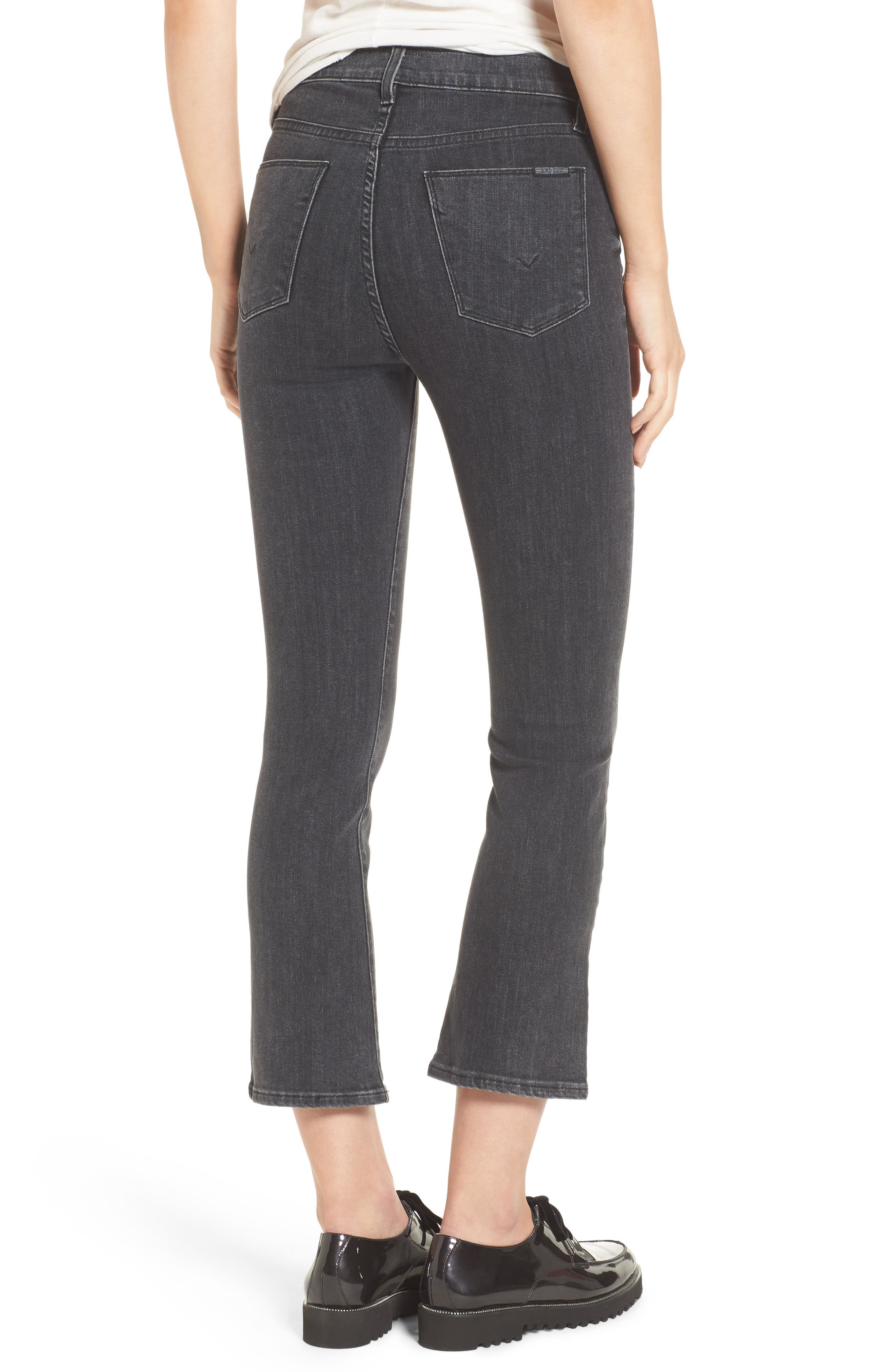 Alternate Image 3  - Hudson Jeans Bullocks High Waist Lace-Up Crop Jeans (Disarm)