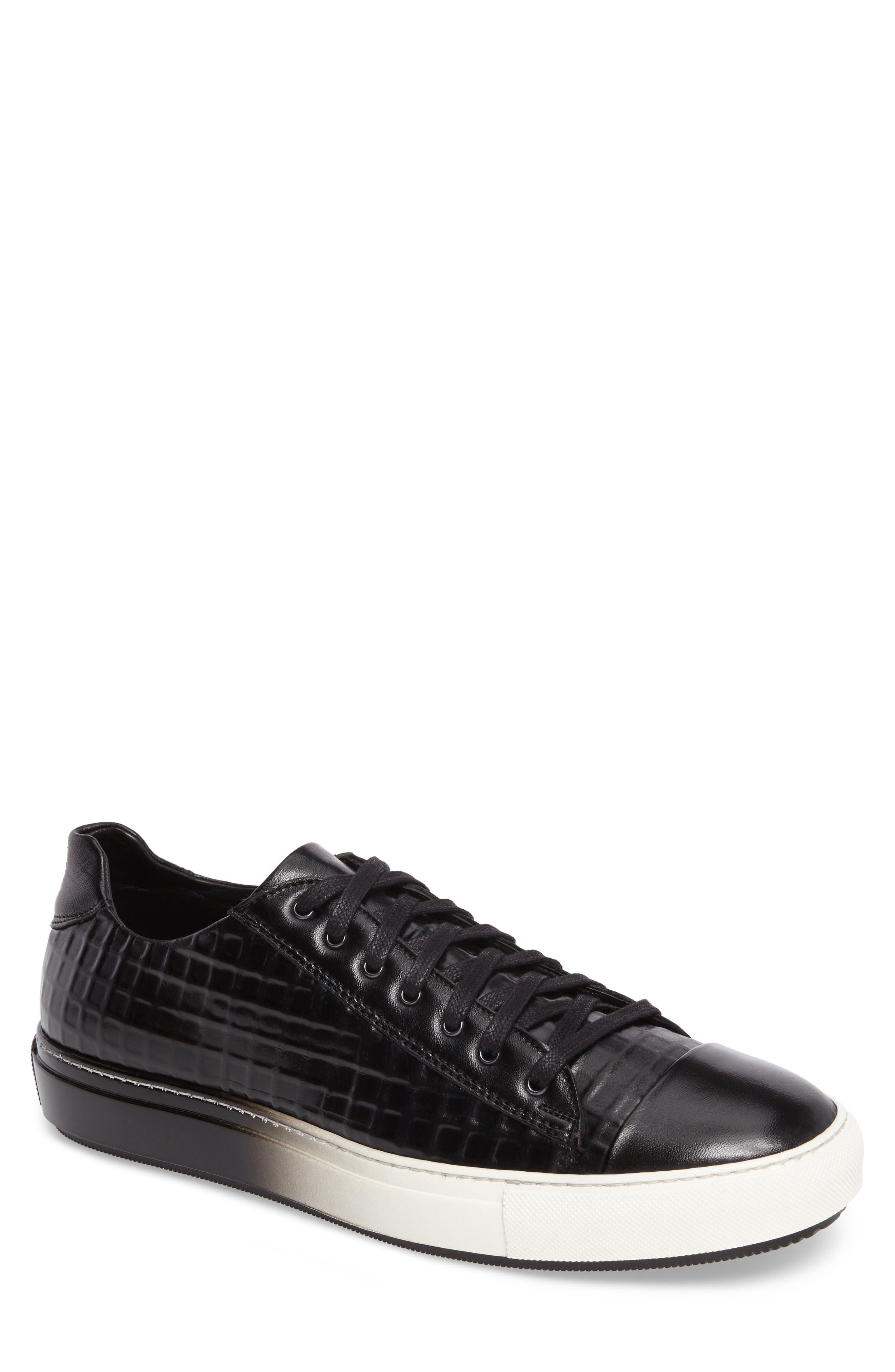 Vera II Sneaker,                         Main,                         color, Black Leather
